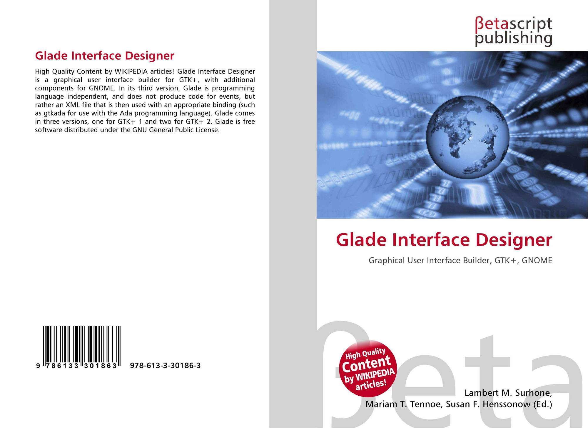 Glade Interface Designer, 978-613-3-30186-3, 6133301864