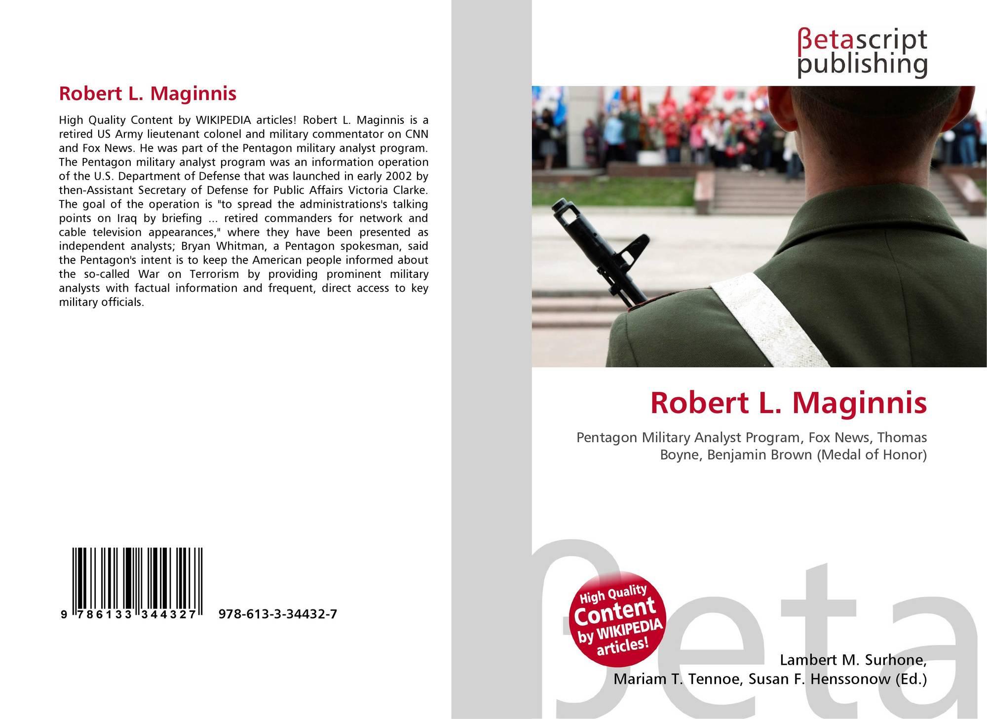 Robert L. Maginnis, 978-613-3-34432-7, 6133344326 ,9786133344327
