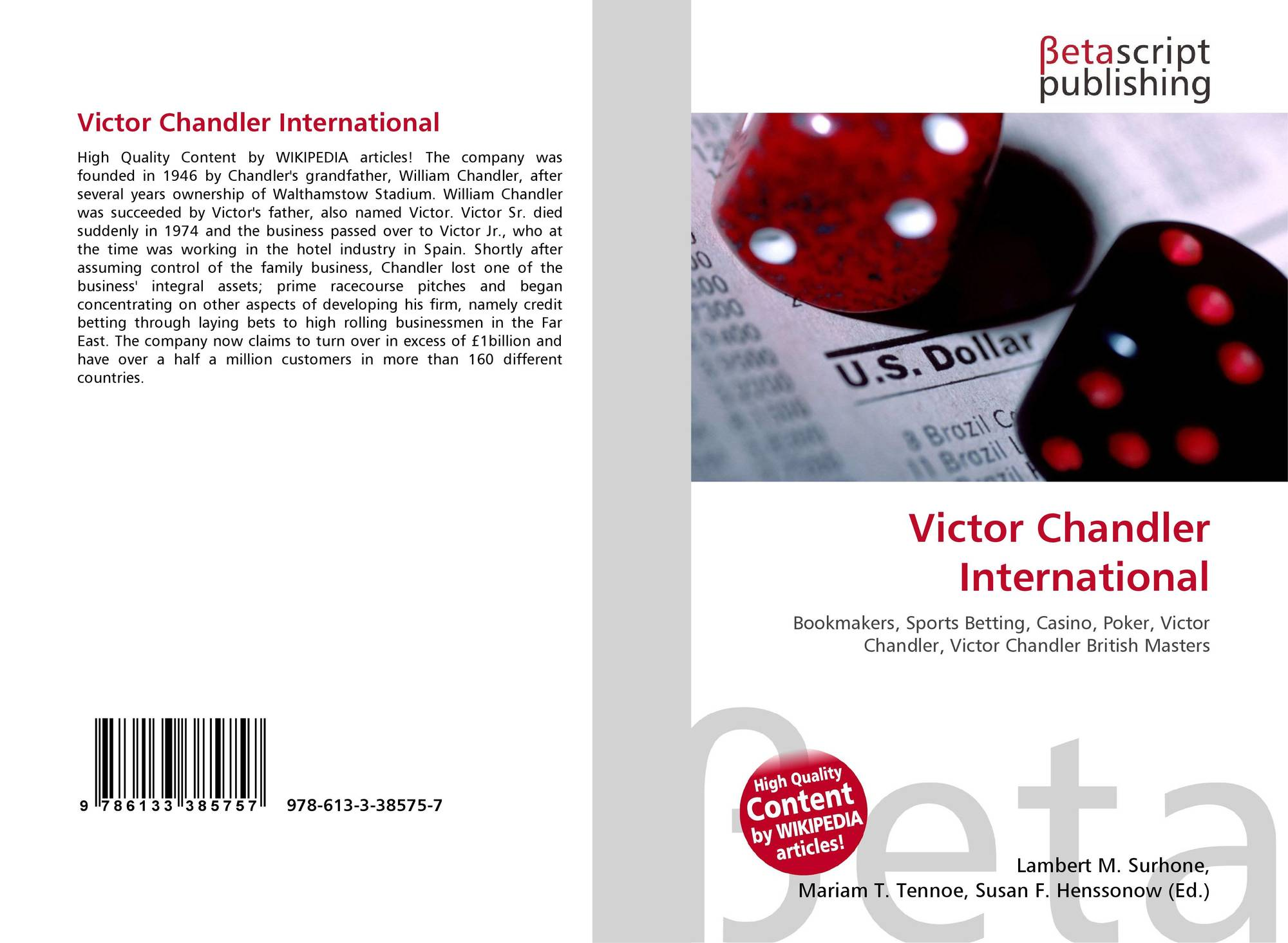 Victor chandler international bookmakers betting legality of online sports betting in the u s