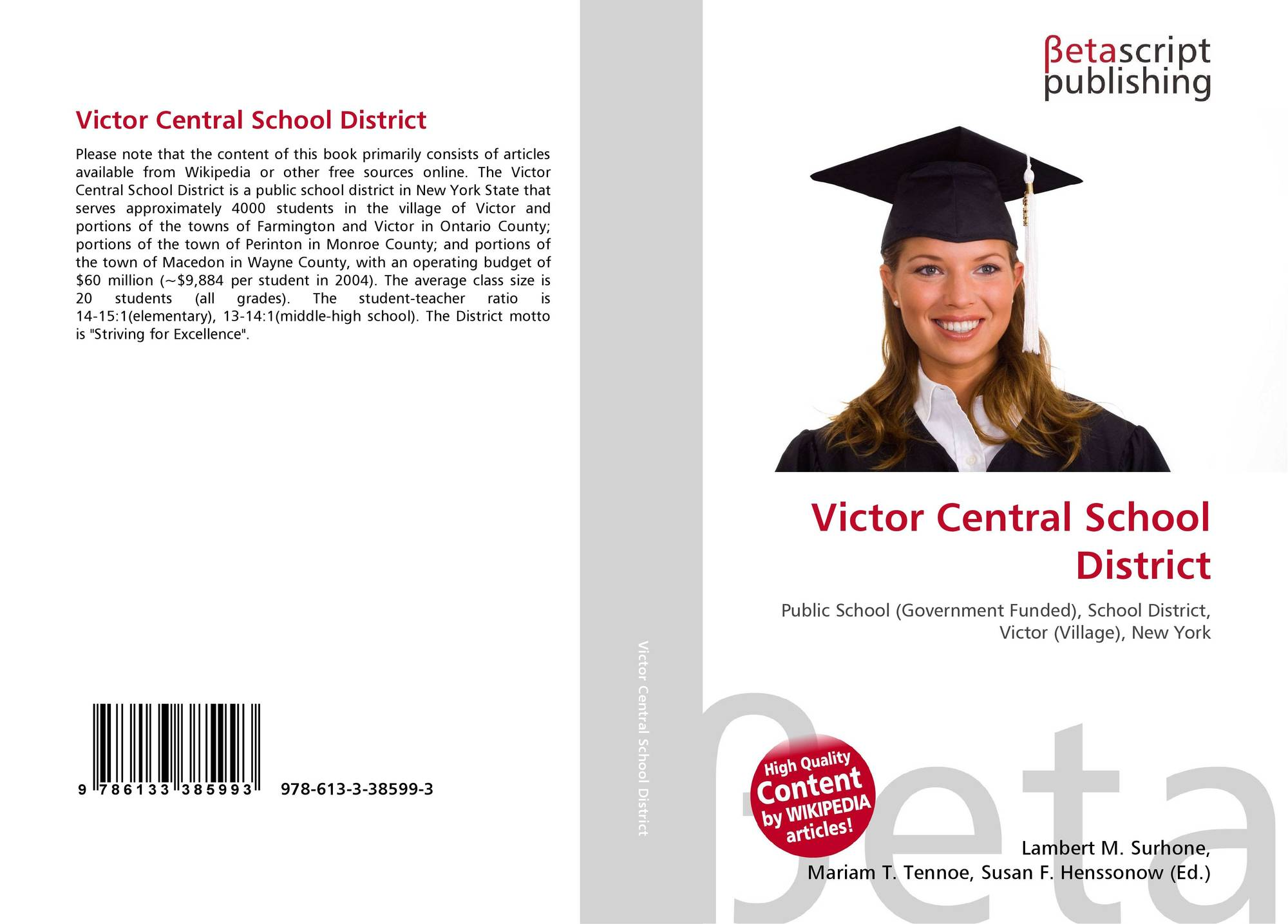 Victor central school district report card