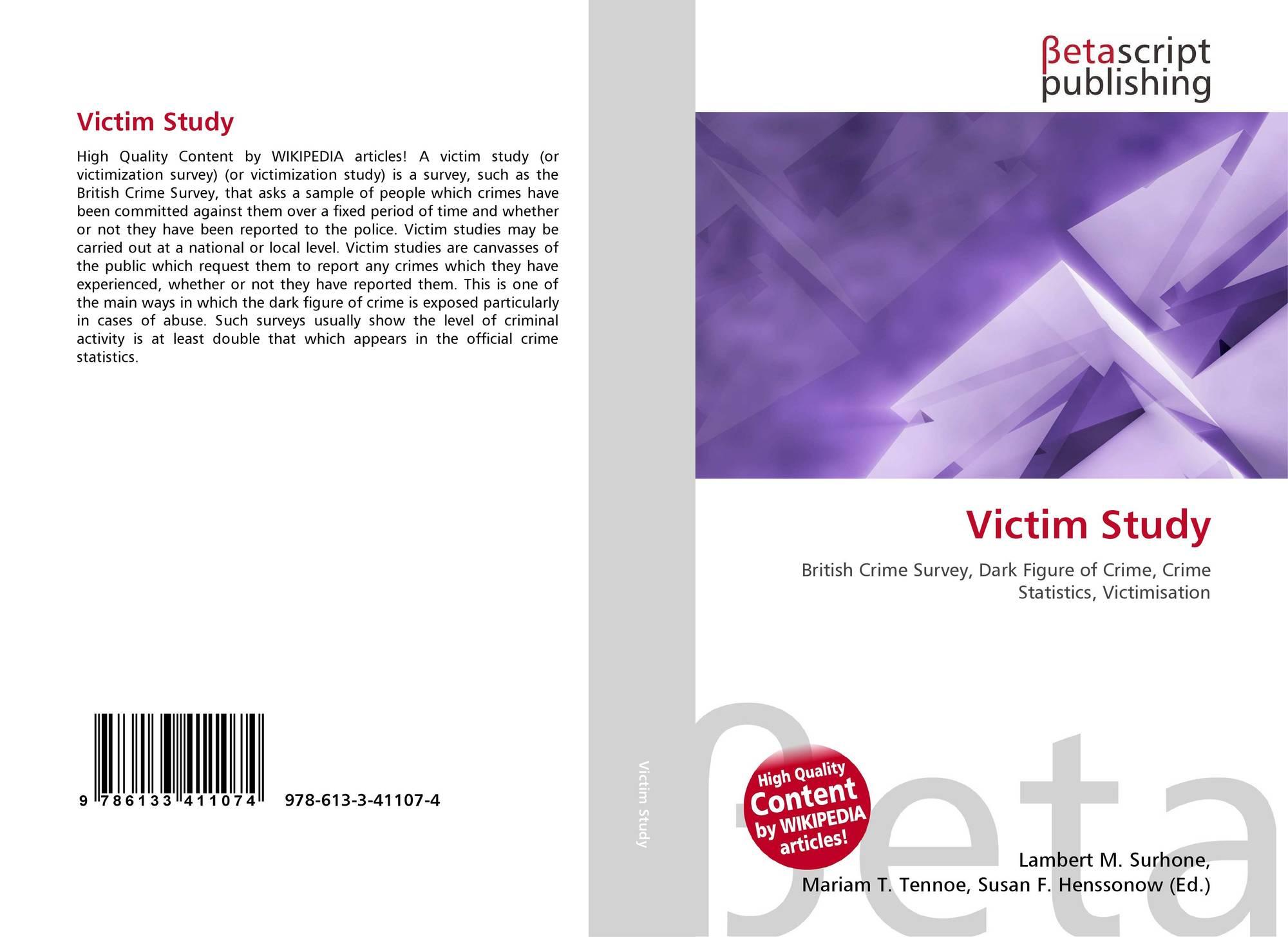 Victim Study, 978-613-3-41107-4, 6133411074 ,9786133411074