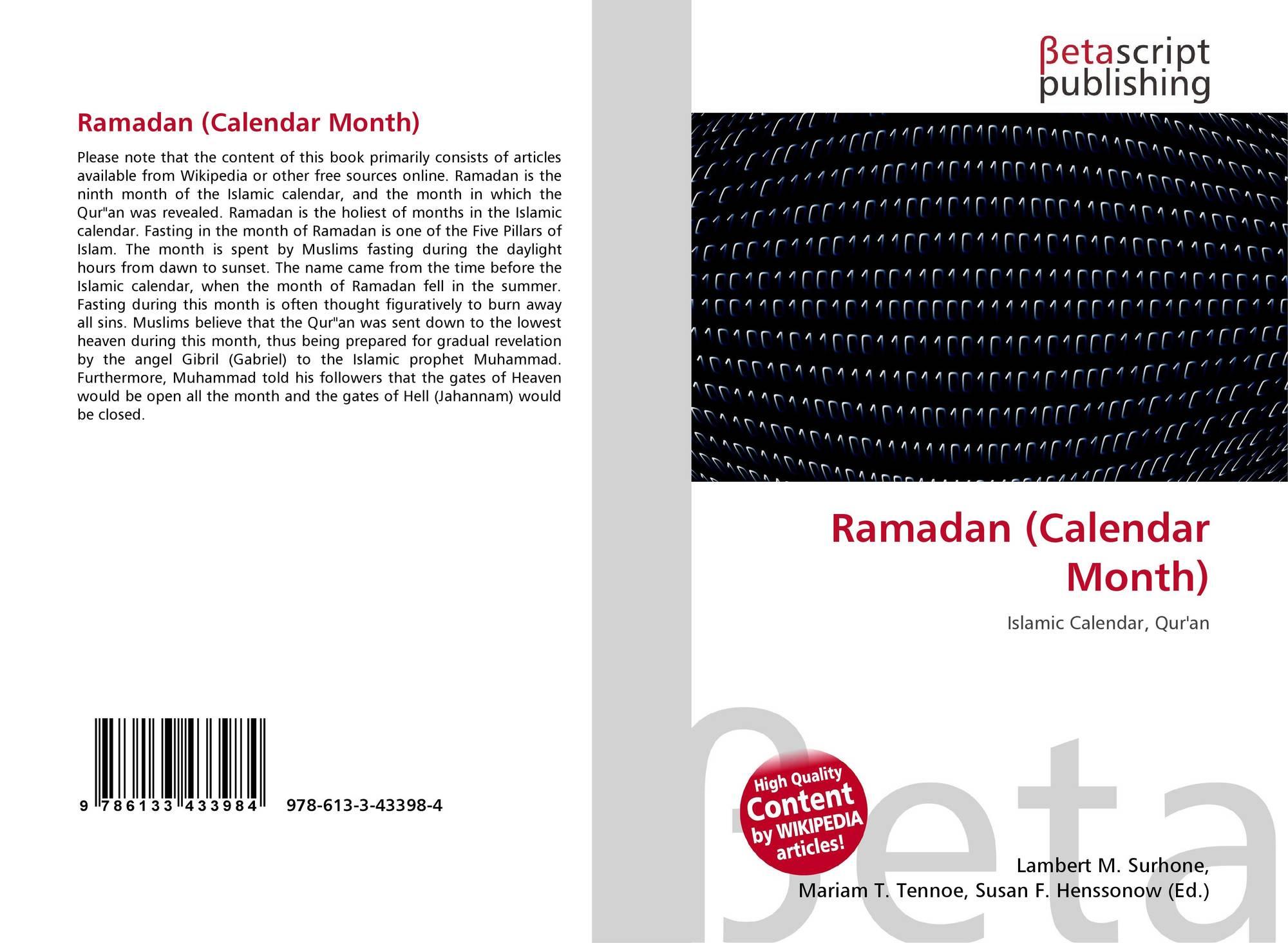 Bookcover Of Ramadan Calendar Month