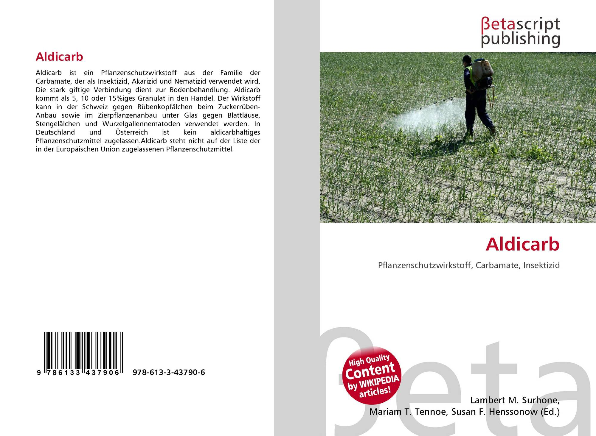 research paper on aldicarb Research assistant  this paper is the second in a series on pesticide-plant disease pesticide-plant disease interactions: the influence of aldicarb on growth.