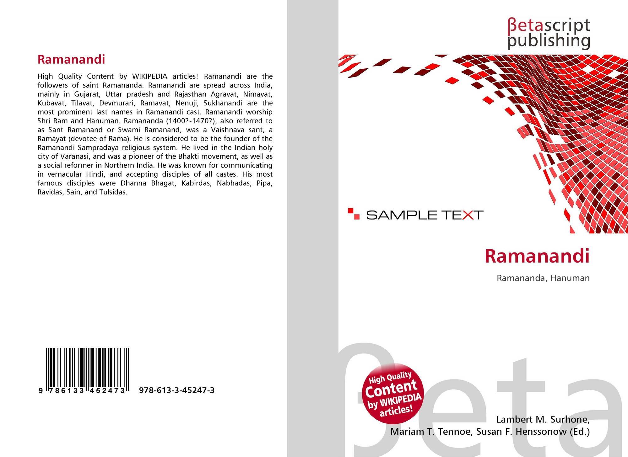 Ramanandi, 978-613-3-45247-3, 6133452471 ,9786133452473