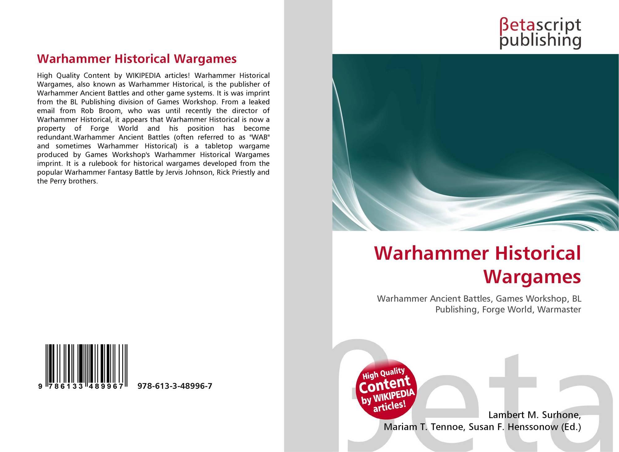 Warhammer Historical Wargames, 978-613-3-48996-7, 6133489960