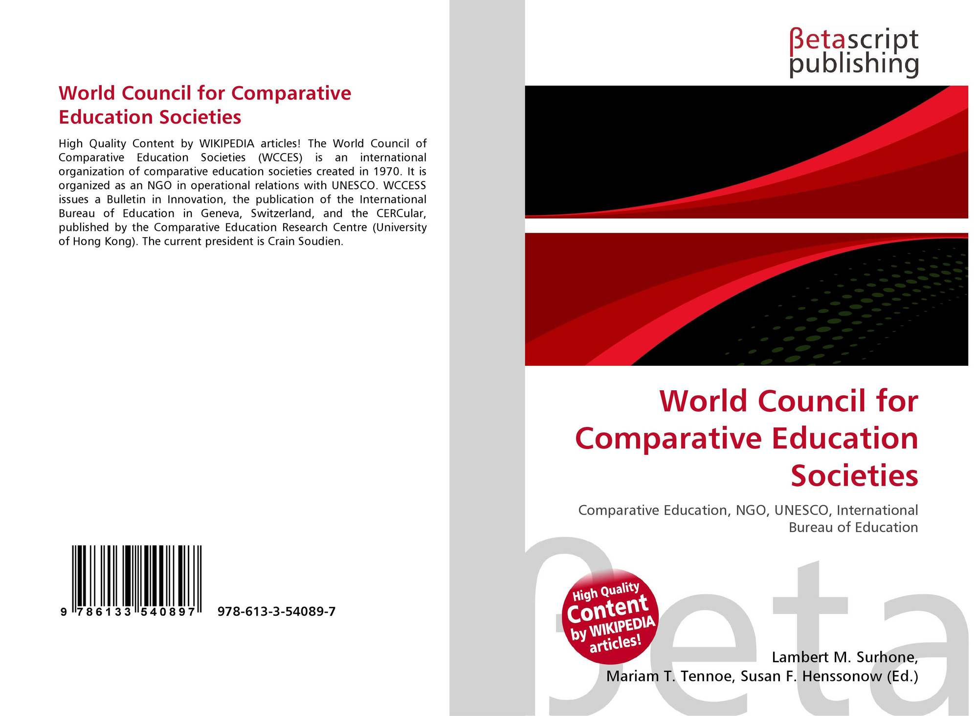 World Council for Comparative Education Societies, 978-613-3-54089-7 on
