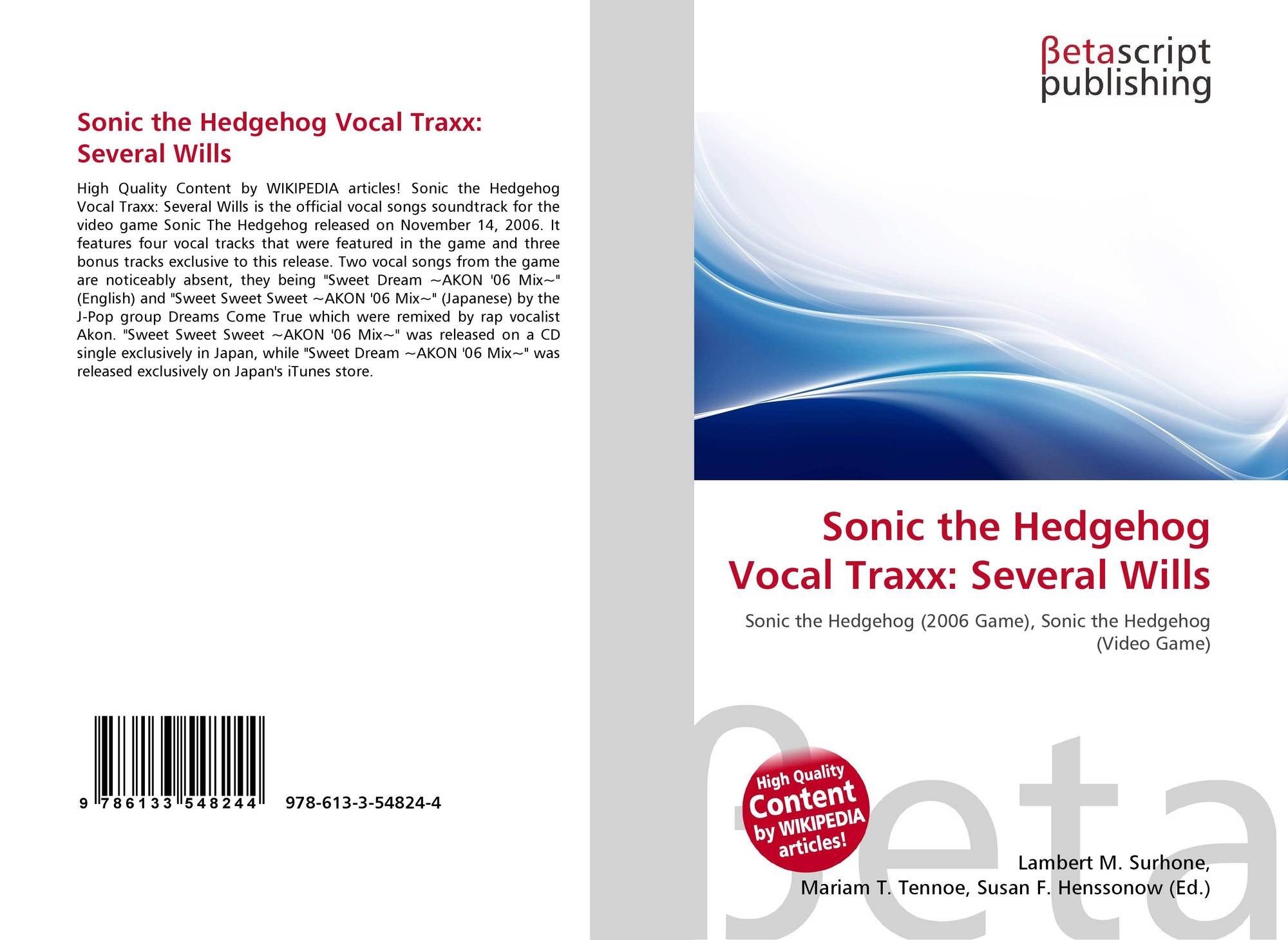 Sonic the Hedgehog Vocal Traxx...