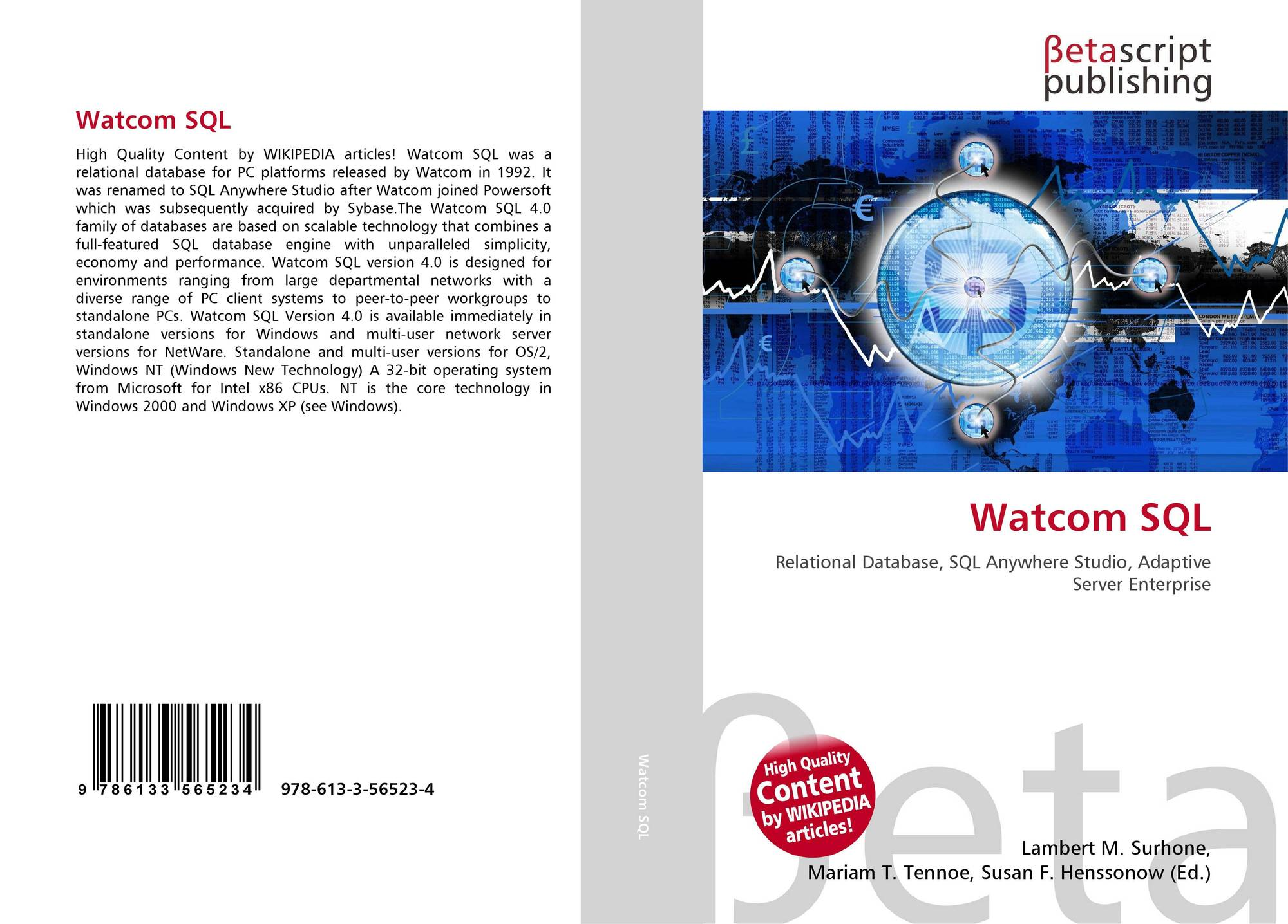 Watcom SQL, 978-613-3-56523-4,...