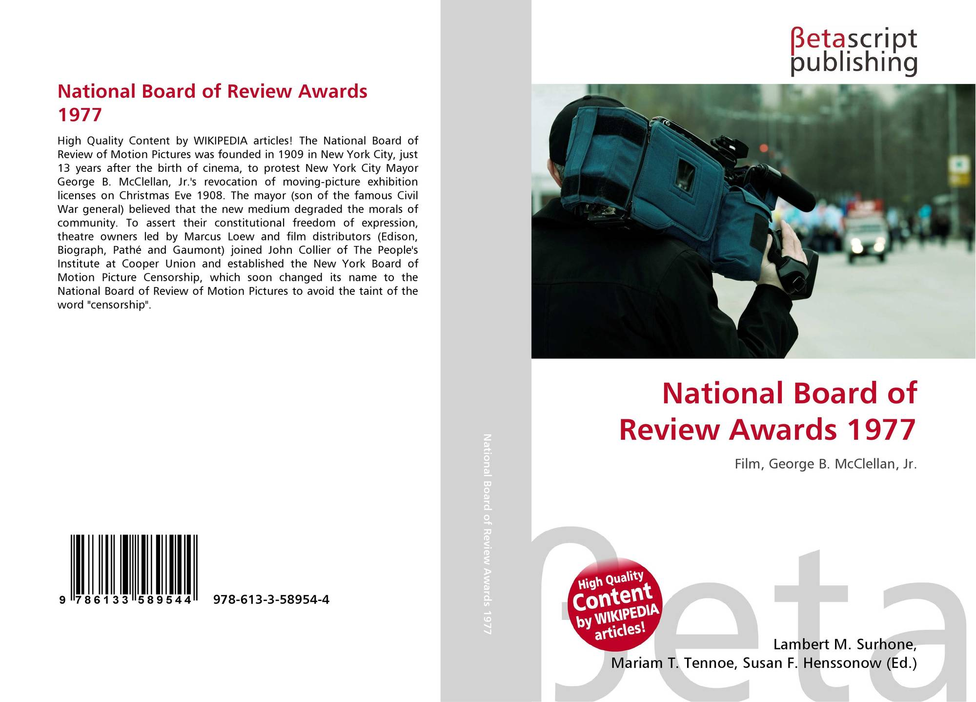 National Board of Review Awards 1977