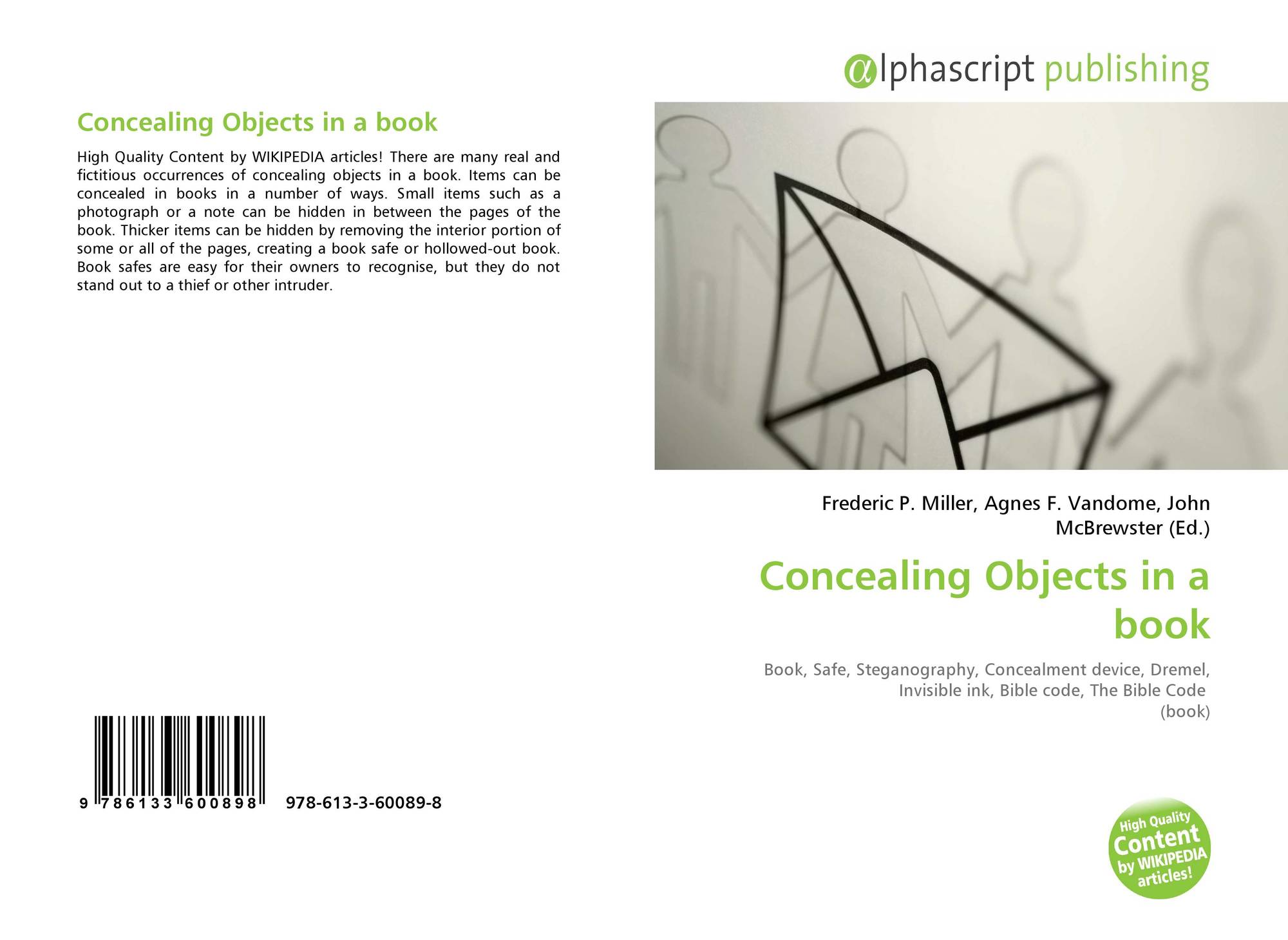 Concealing Objects in a book, 978-613-3-60089-8, 6133600896