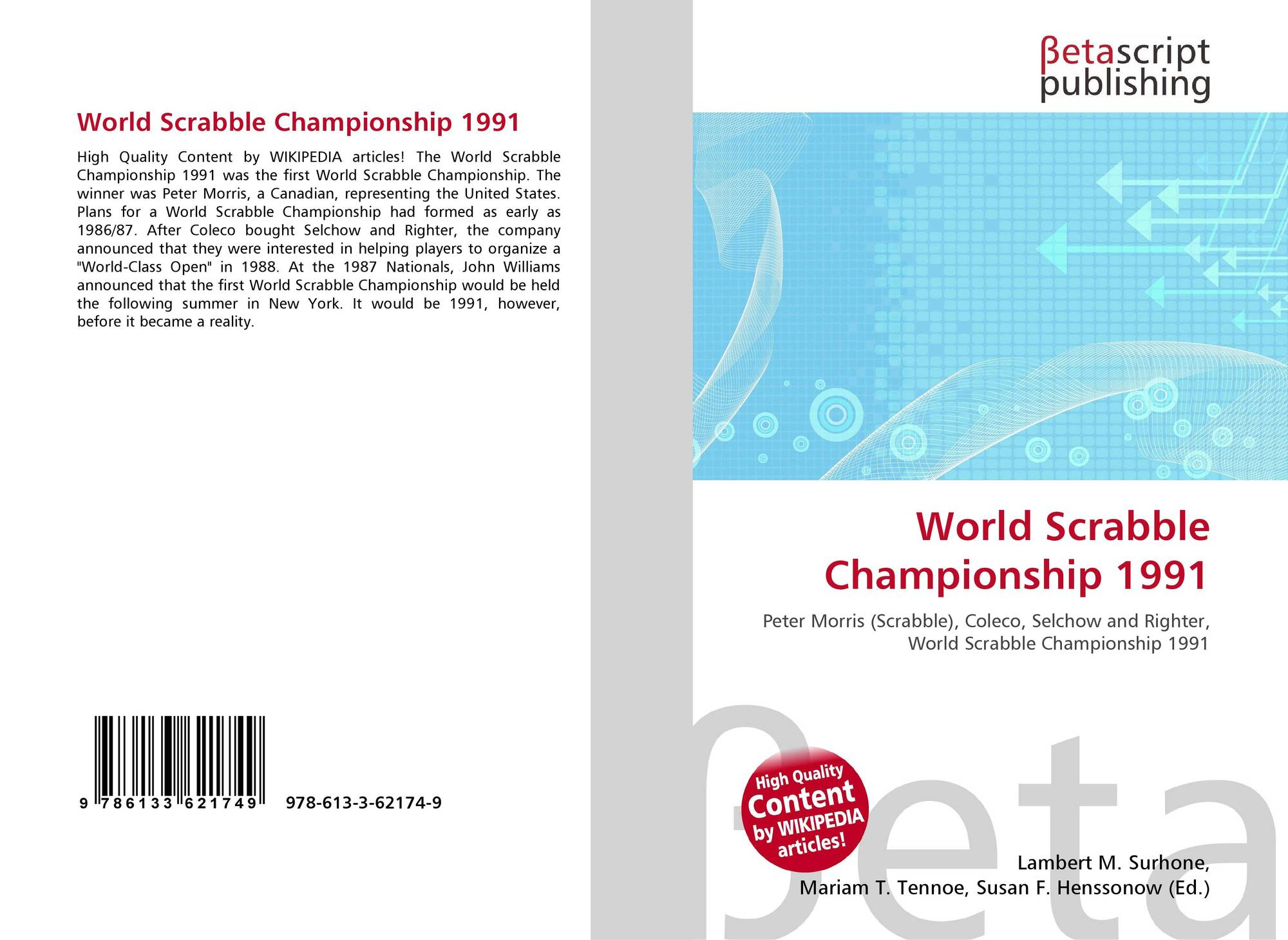 World Scrabble Championship 1991, 978-613-3-62174-9