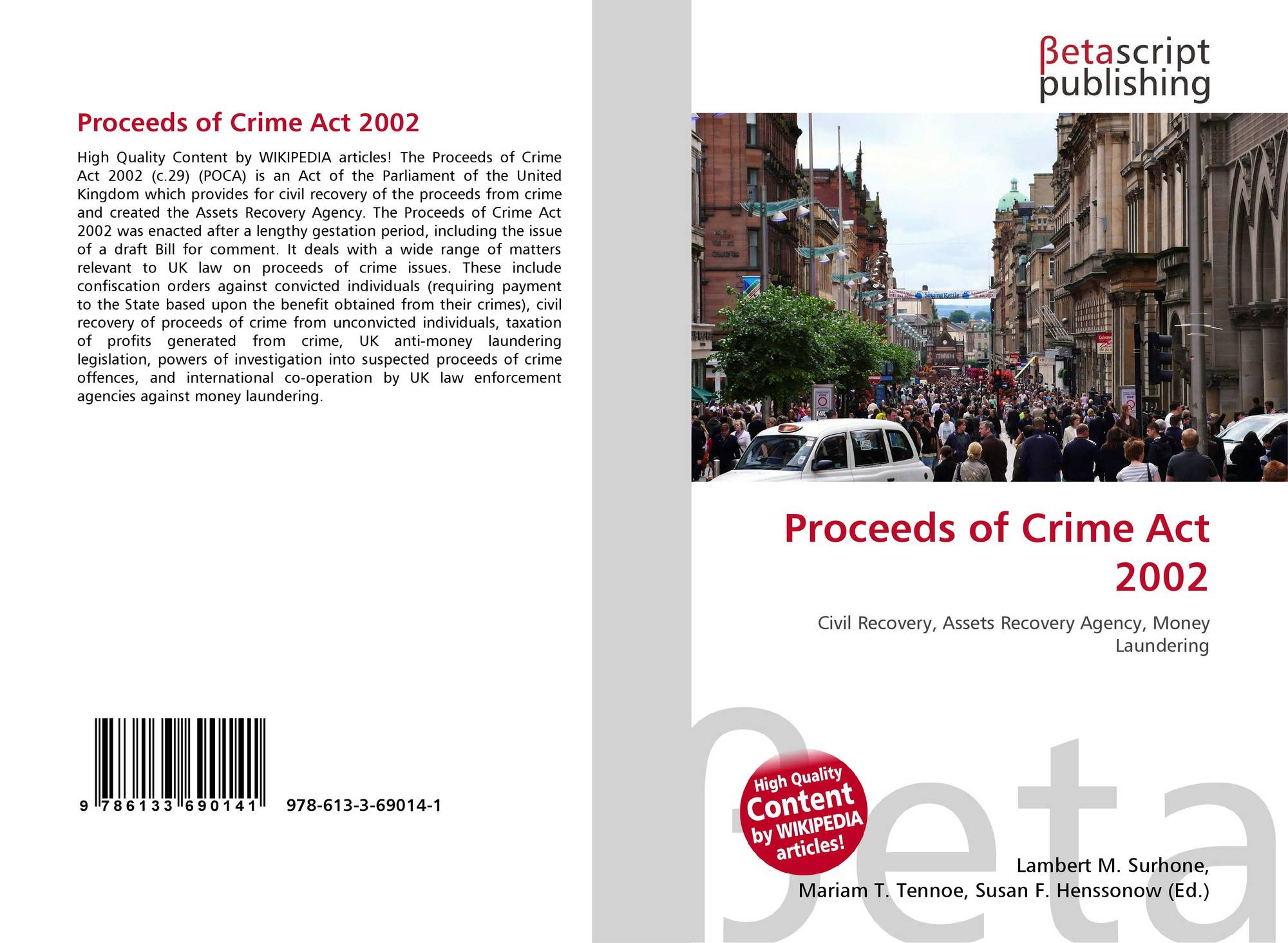 the proceeds of crime act 2002 This report is the result of a joint inspection by her majesty's inspectorate of constabulary for scotland (hmics) and the inspectorate of prosecution in scotland (ips) to inspect the arrangements in police forces and the crown office and procurator fiscal service (copfs) for implementing the proceeds of crime act 2002 in scotland.