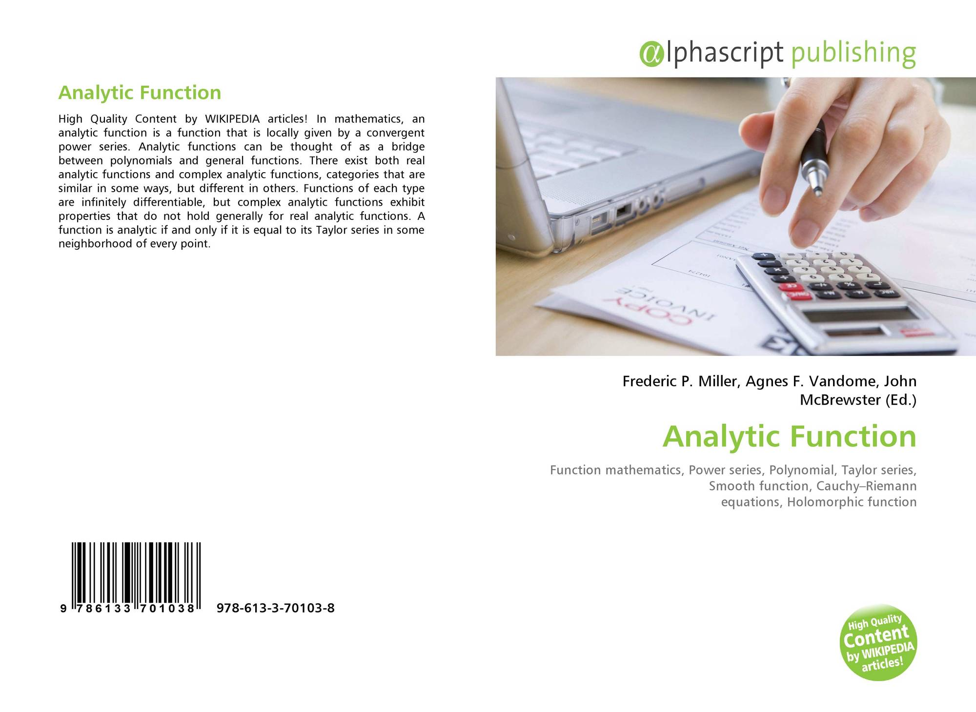 Analytic Function, 978-613-3-70103-8, 613370103X ,9786133701038