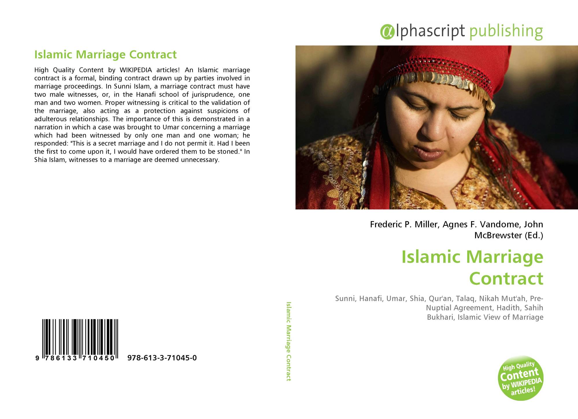 Islamic Marriage Contract, 978-613-3-71045-0, 6133710454