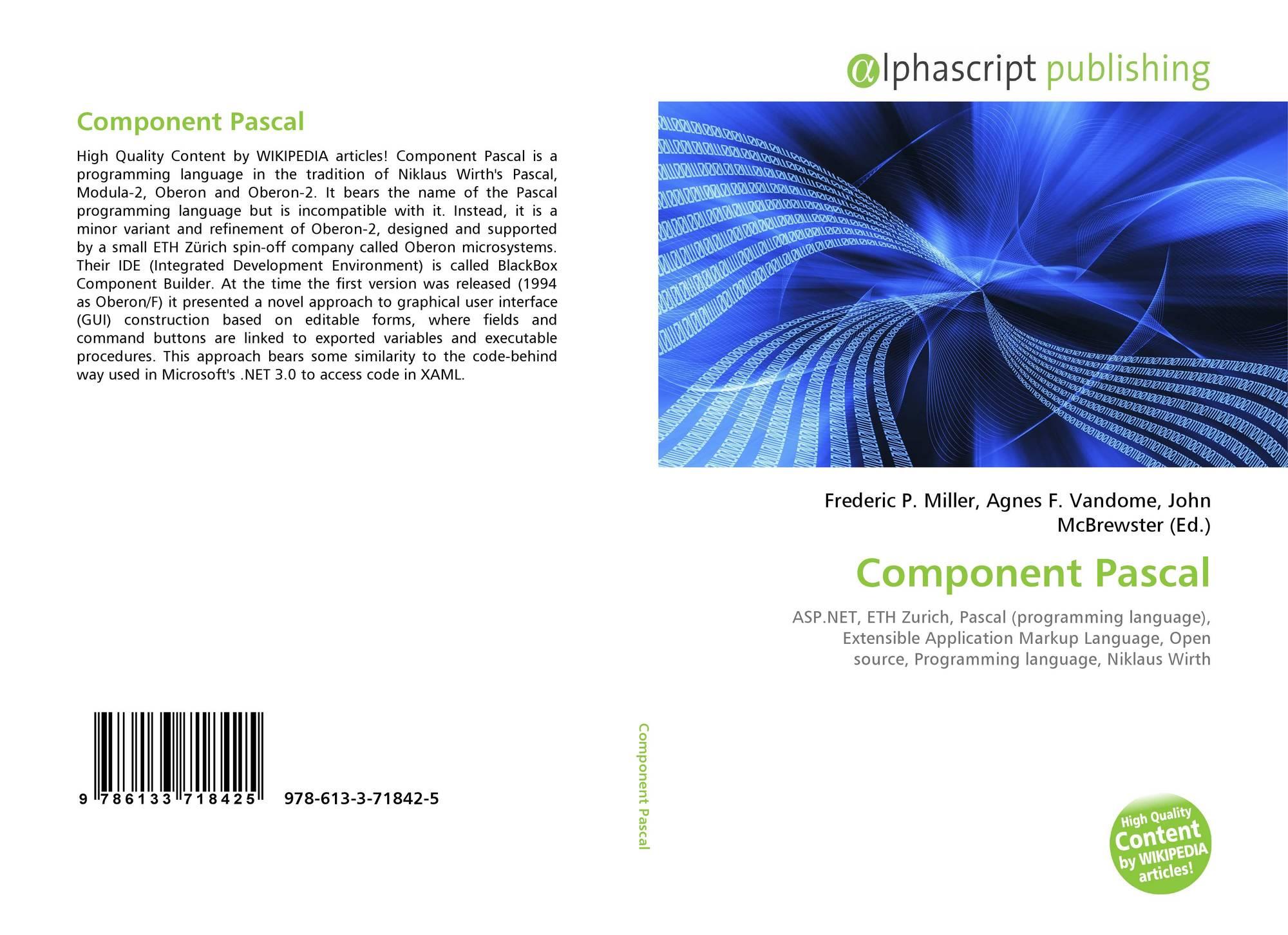 Component Pascal, 978-613-3-71842-5, 6133718420 ,9786133718425
