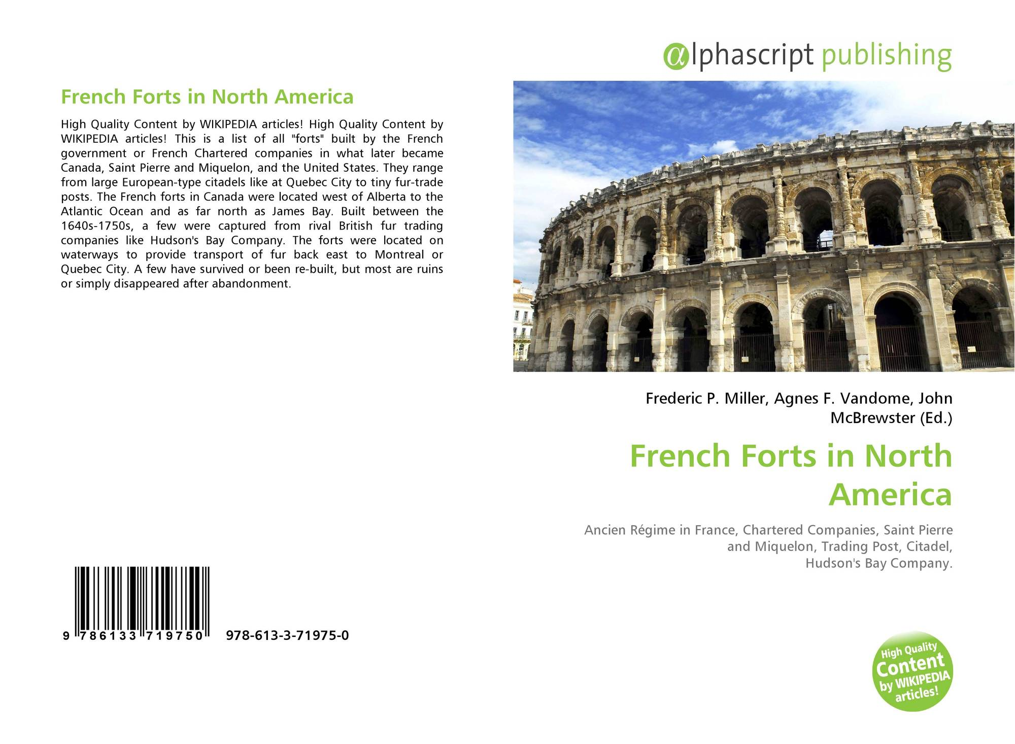 French Forts in North America, 978-613-3-71975-0, 6133719753