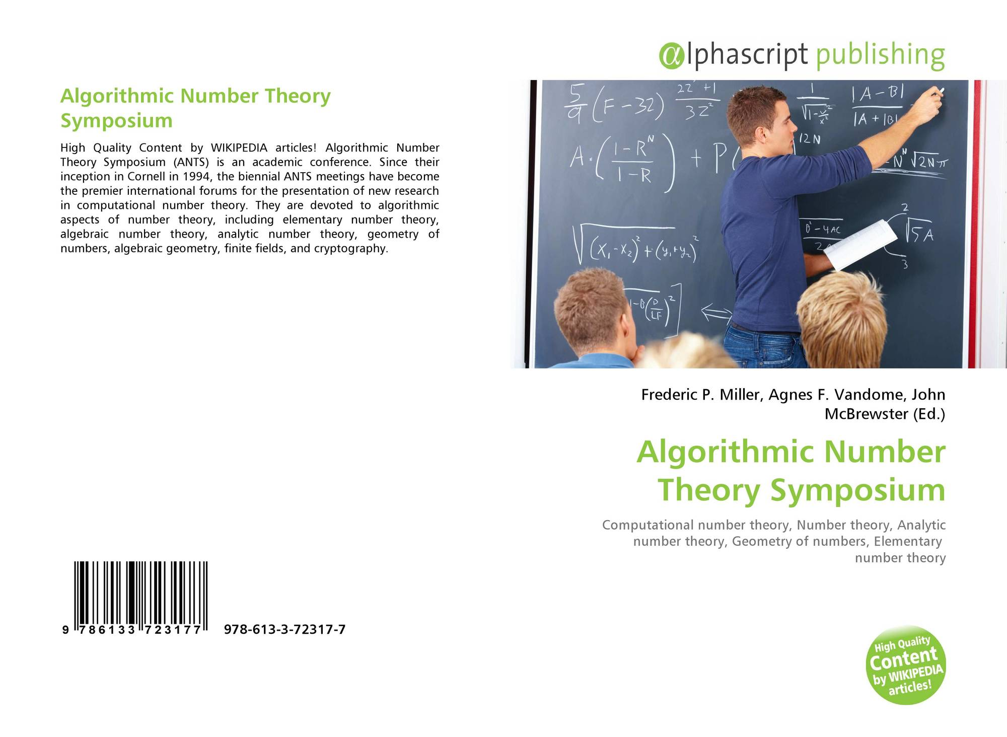 Algorithmic Number Theory Symposium, 978-613-3-72317-7