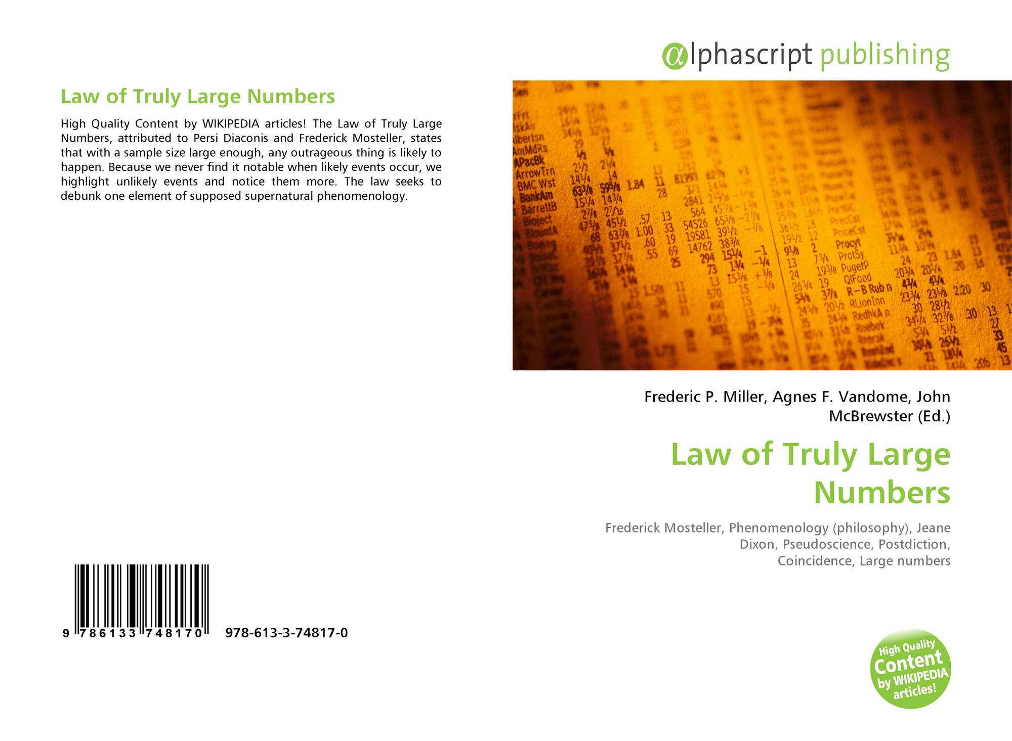 Law of Truly Large Numbers, 18 18 18 18 18, 1818186 ...