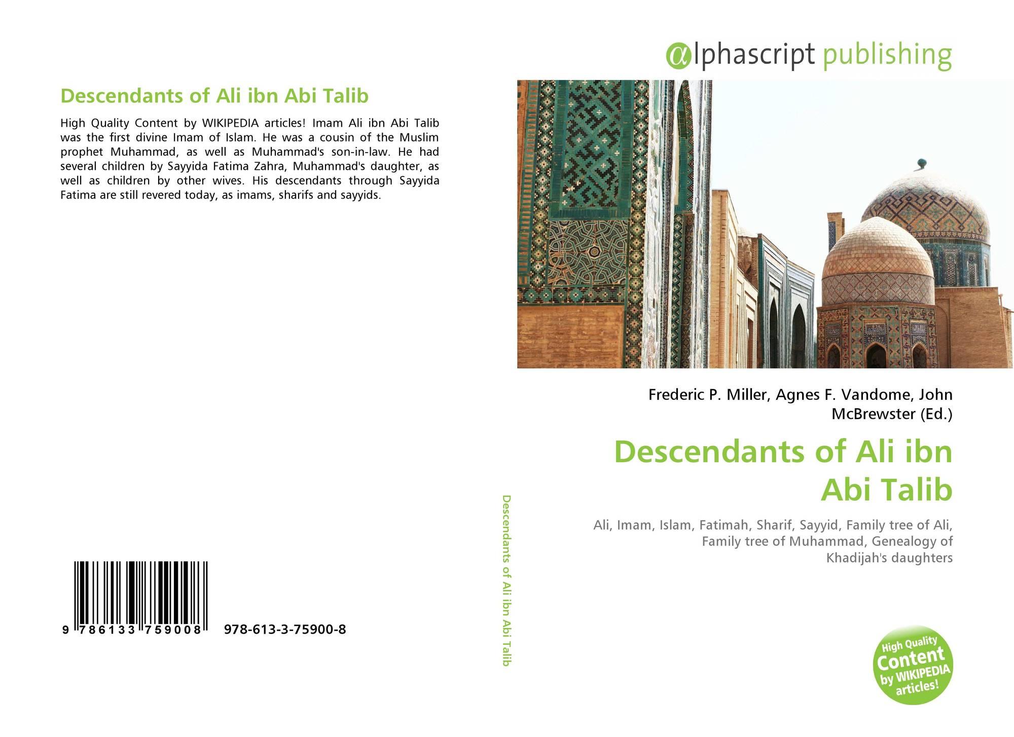 Descendants of Ali ibn Abi Talib, 978-613-3-75900-8