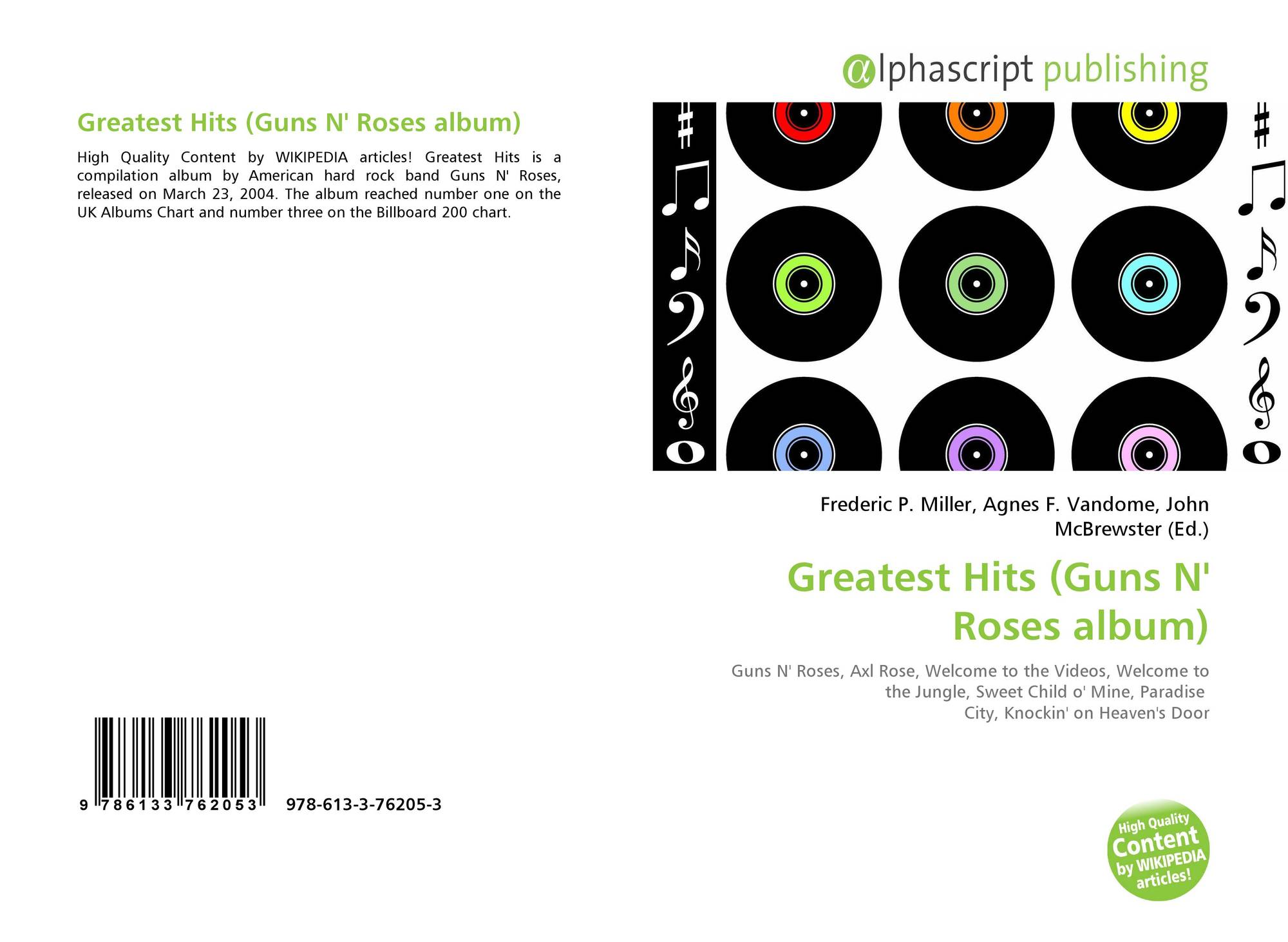 greatest hits guns n roses album 9786133762053