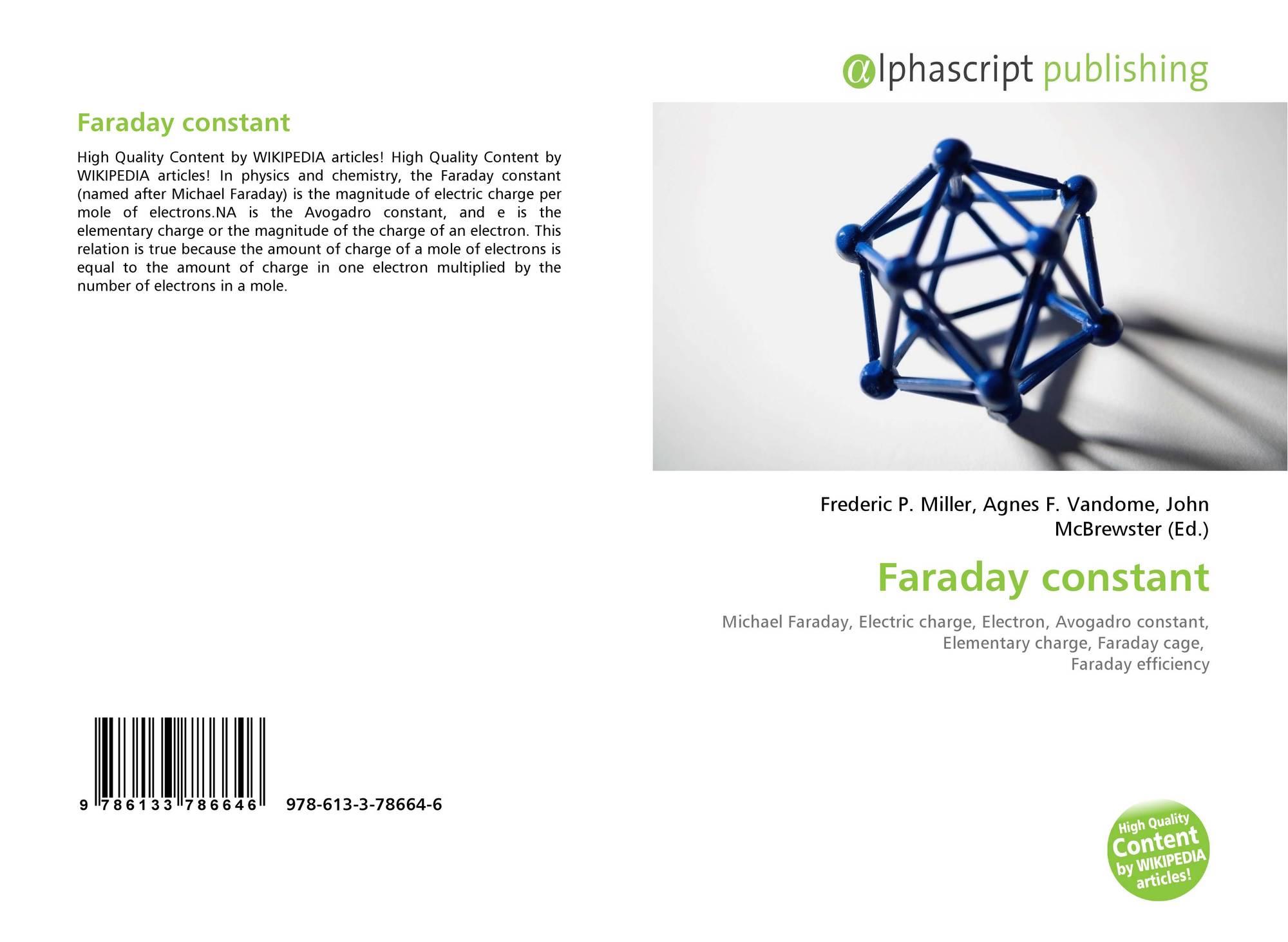 Faraday constant, 978-613-3-78664-6, 6133786647 ,9786133786646 on