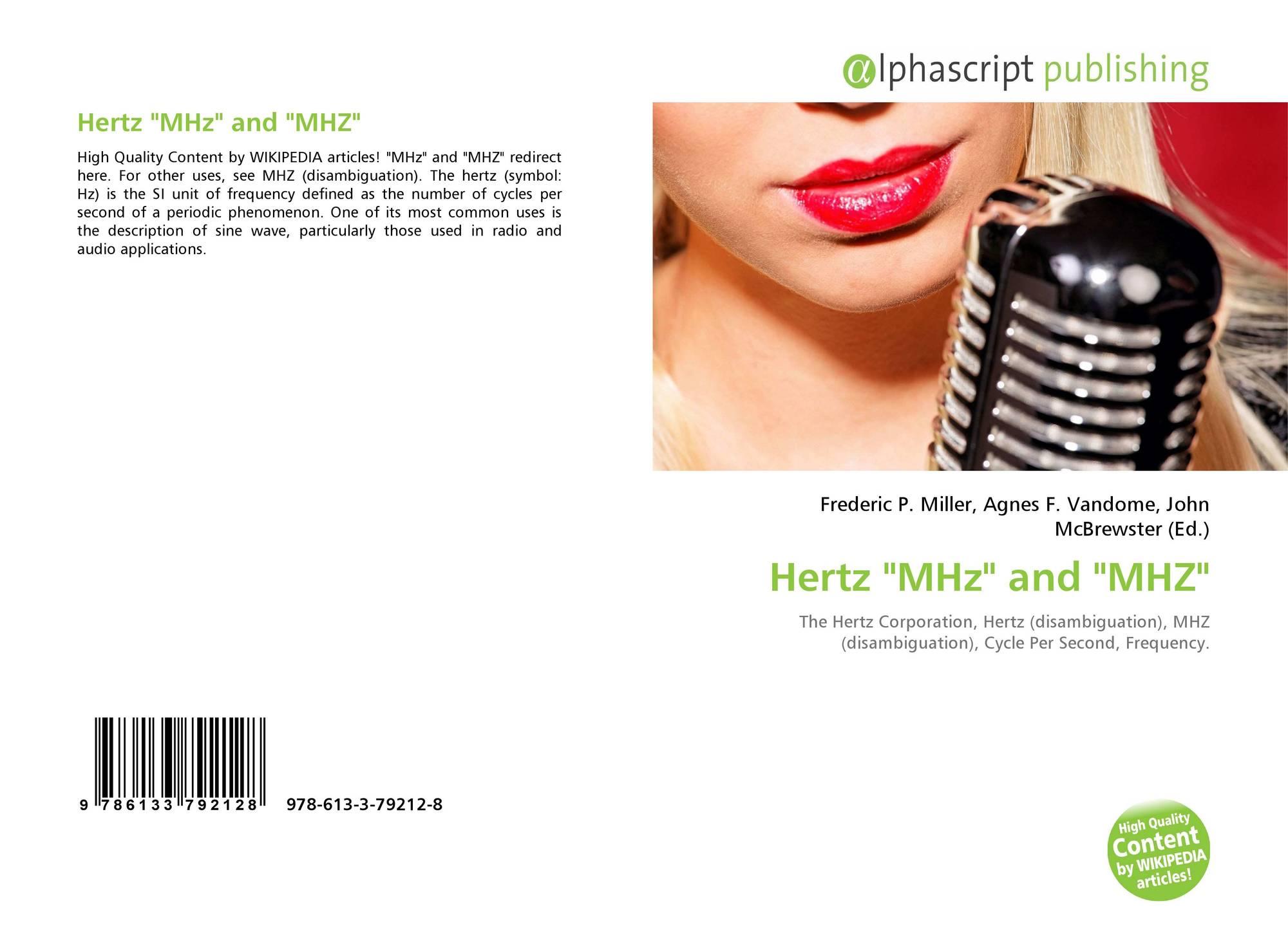 Hertz Mhz And Mhz 978 613 3 79212 8 6133792124 9786133792128