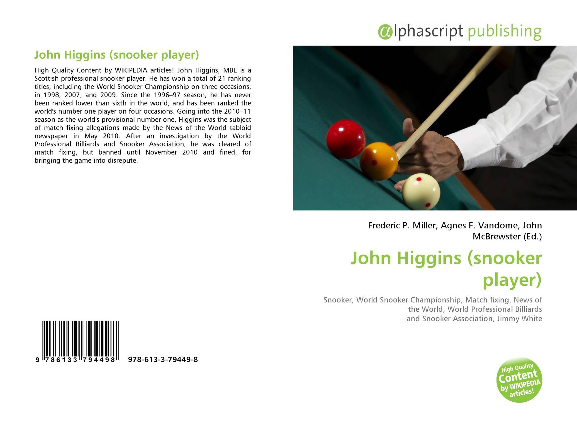 John Higgins (snooker player), 978-613-3-79449-8, 6133794496 ...