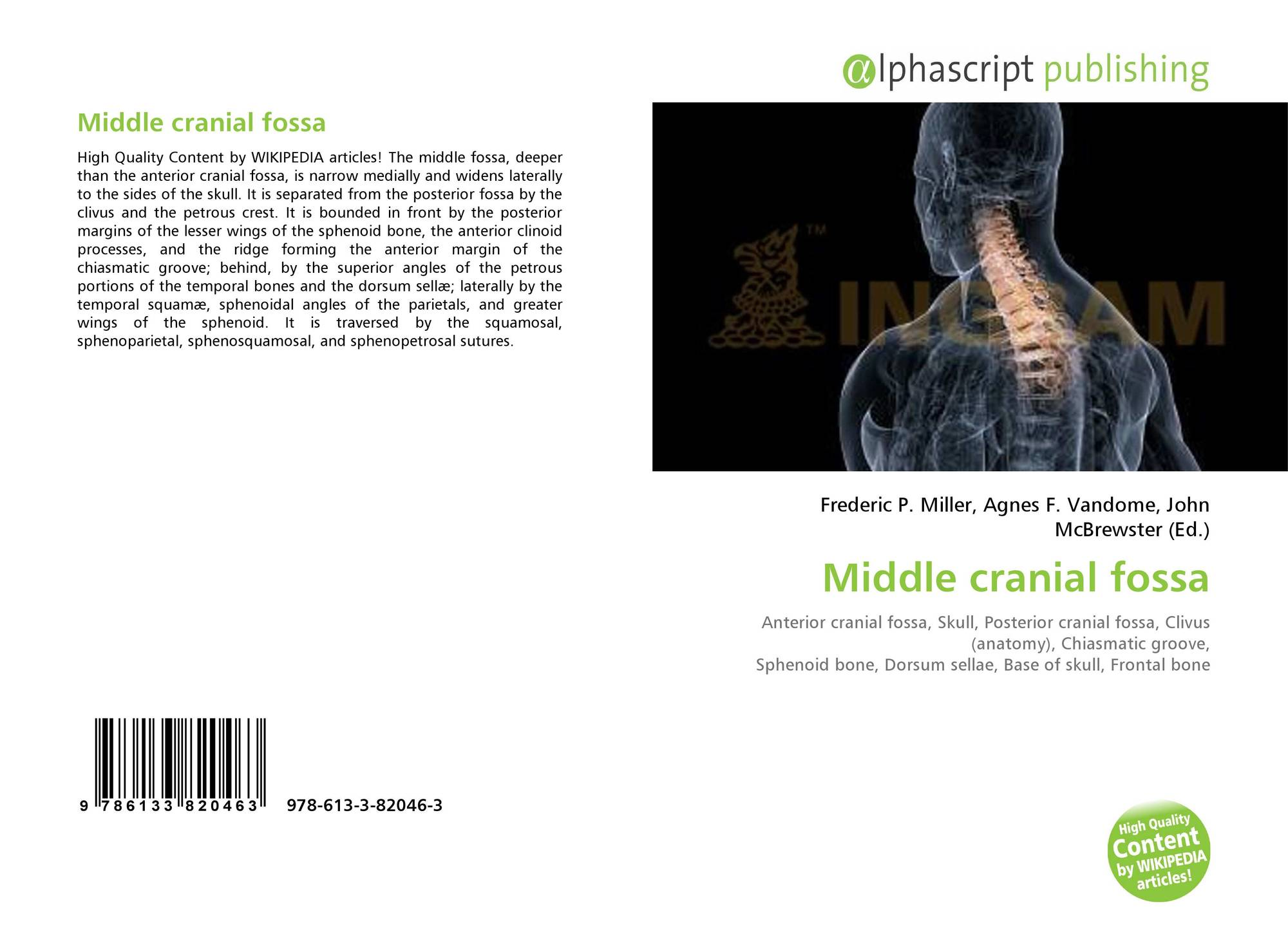 Middle Cranial Fossa 978 613 3 82046 3 6133820462 9786133820463