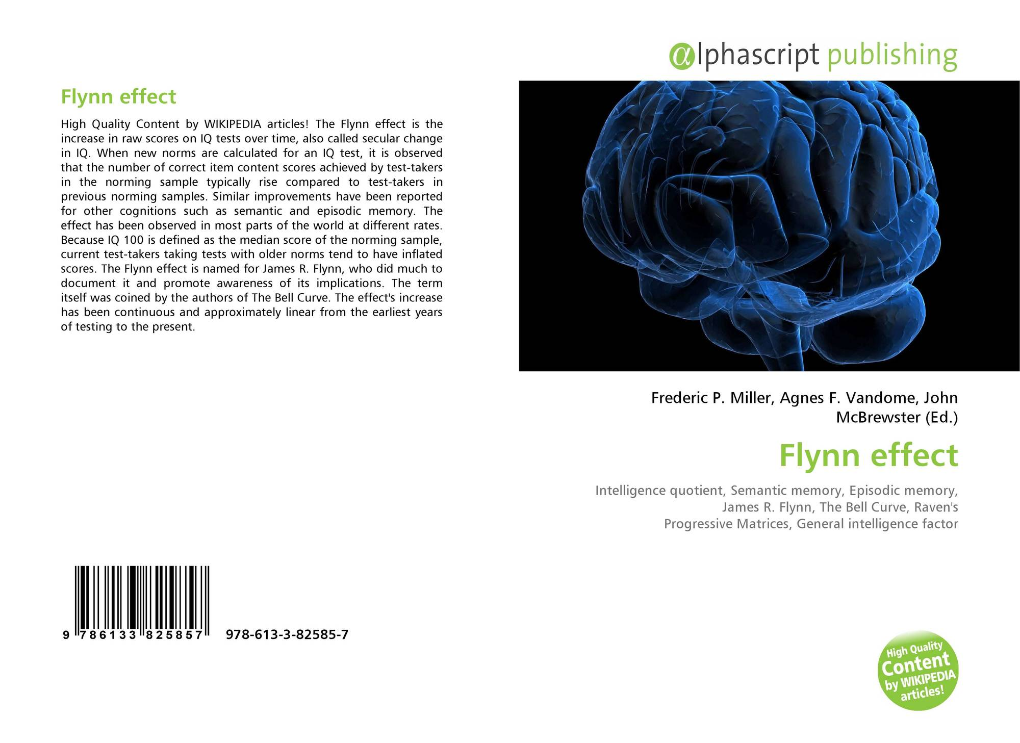 what is intelligence flynn james r