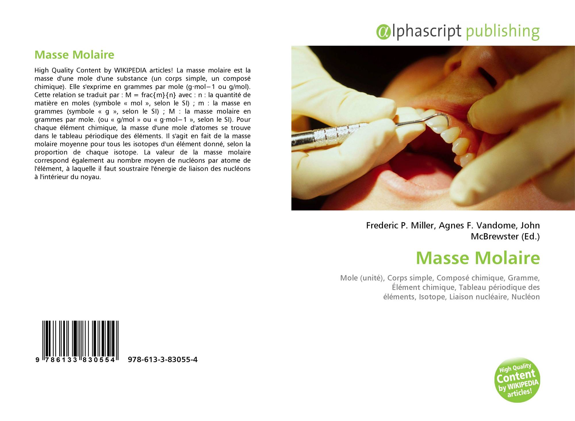Masse Molaire 978 613 3 83055 4 6133830557 9786133830554