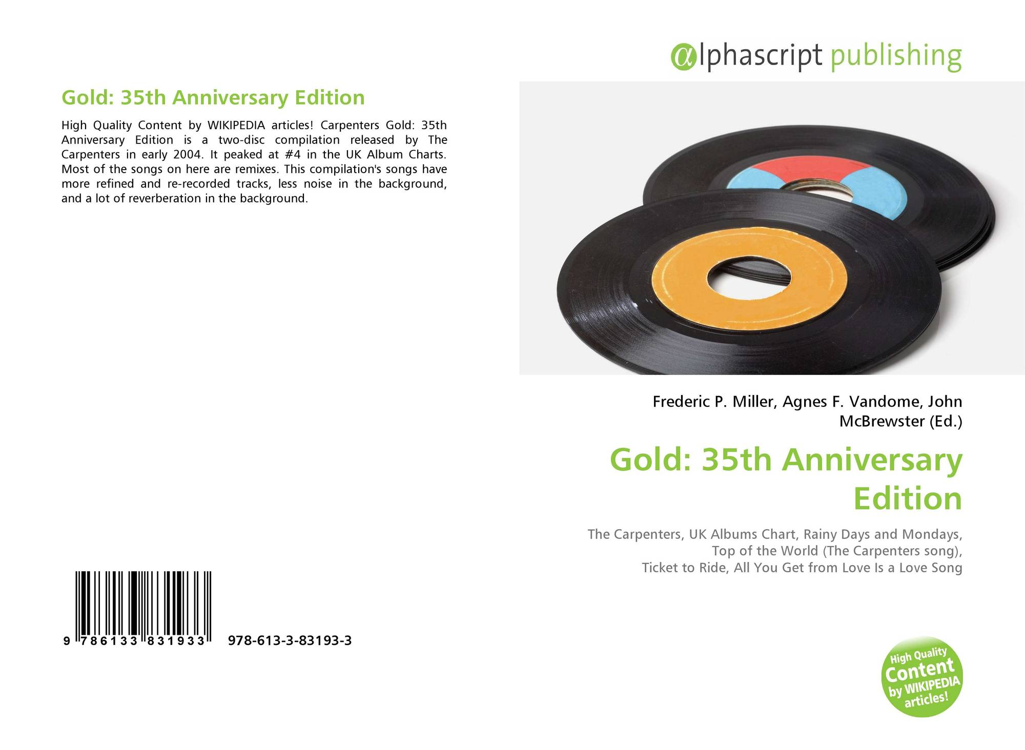 Gold: 35th Anniversary Edition, 978-613-3-83193-3