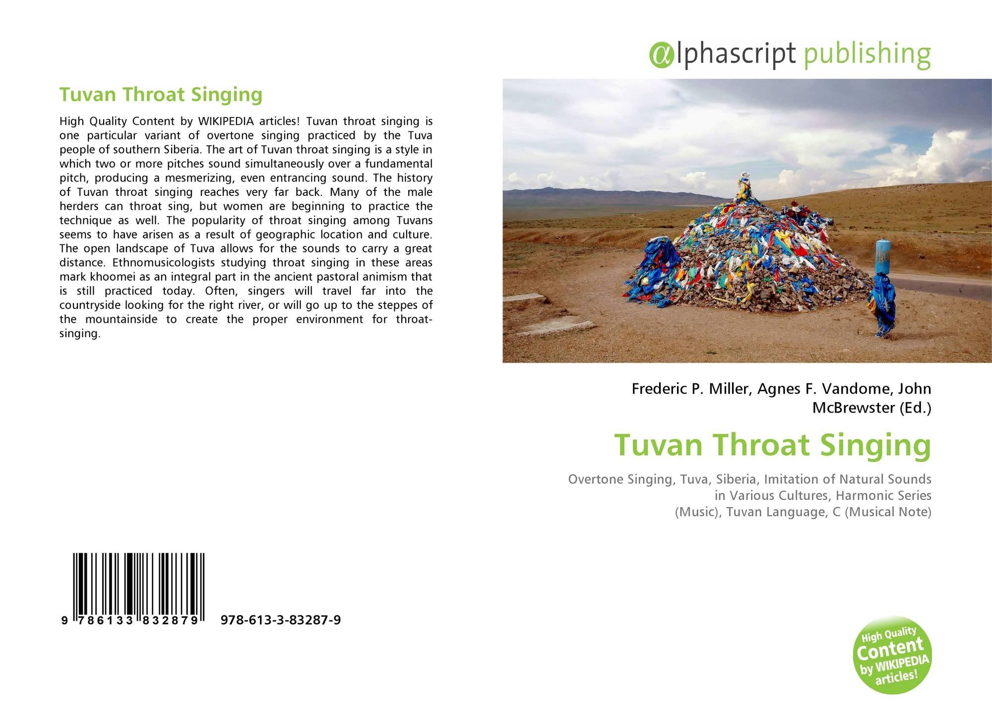 Tuvan Throat Singing, 978-613-3-83287-9, 6133832878