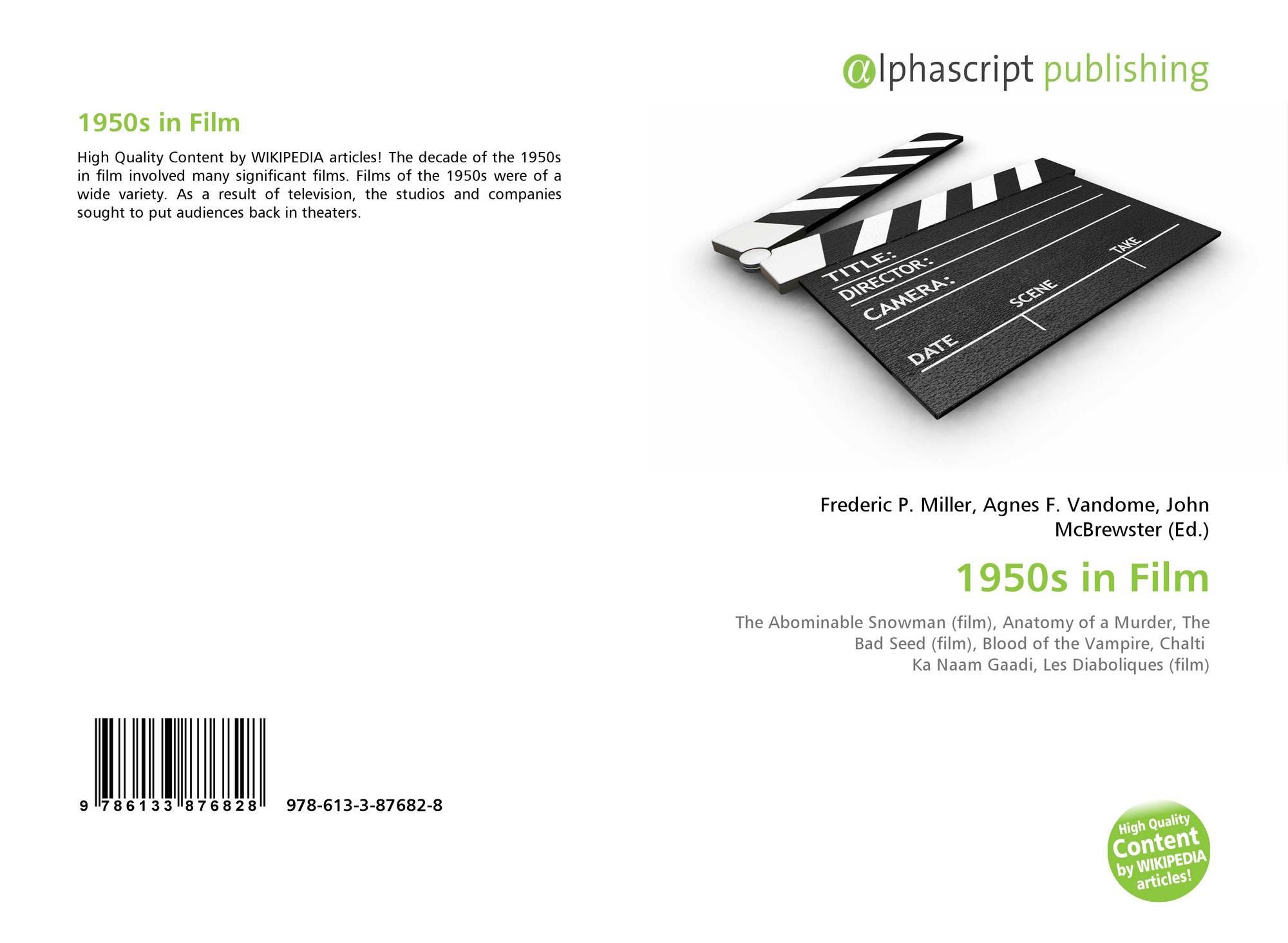 1950s in Film, 978-613-3-87682-8, 6133876824 ,9786133876828