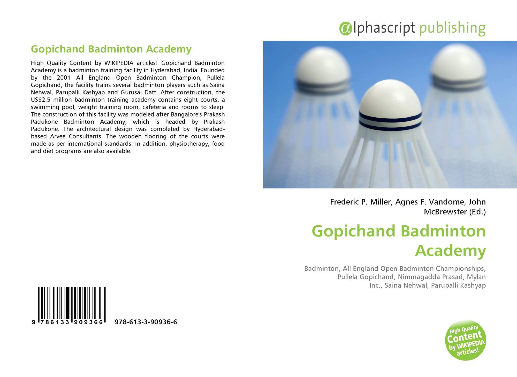 Gopichand Badminton Academy 978 613 3 90936 6 6133909366 9786133909366