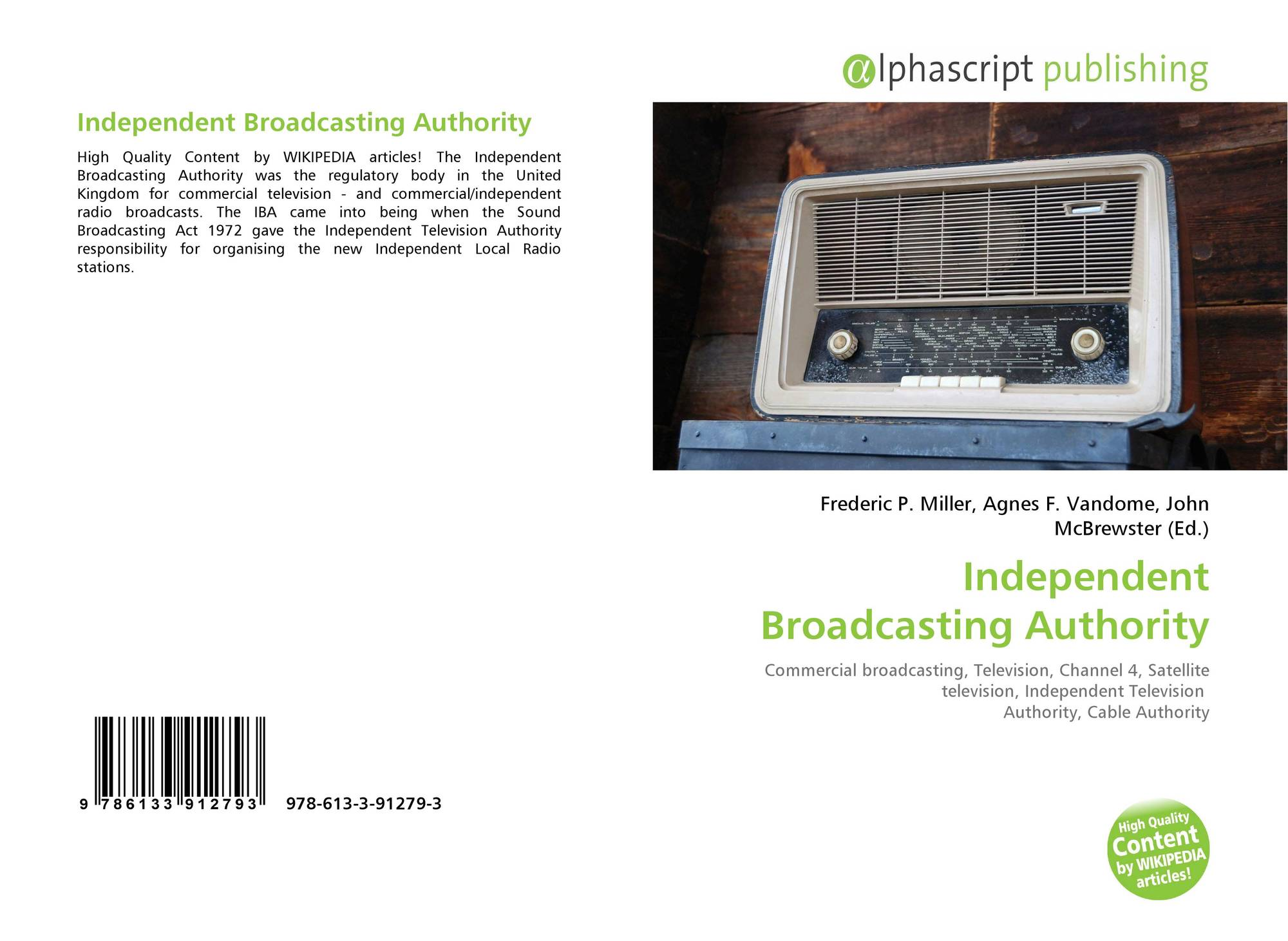 Independent Broadcasting Authority, 978-613-3-91279-3, 6133912790