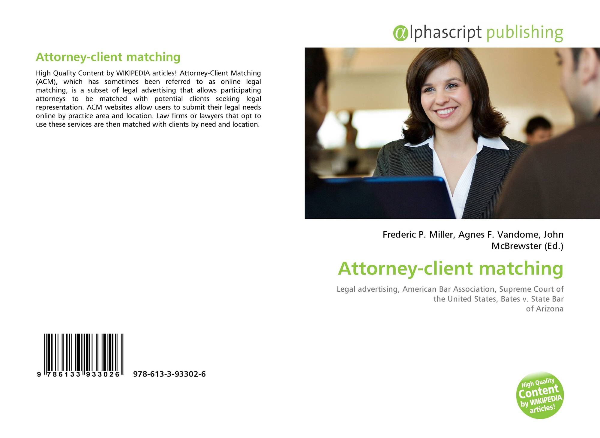 Bookcover of Attorney-client matching
