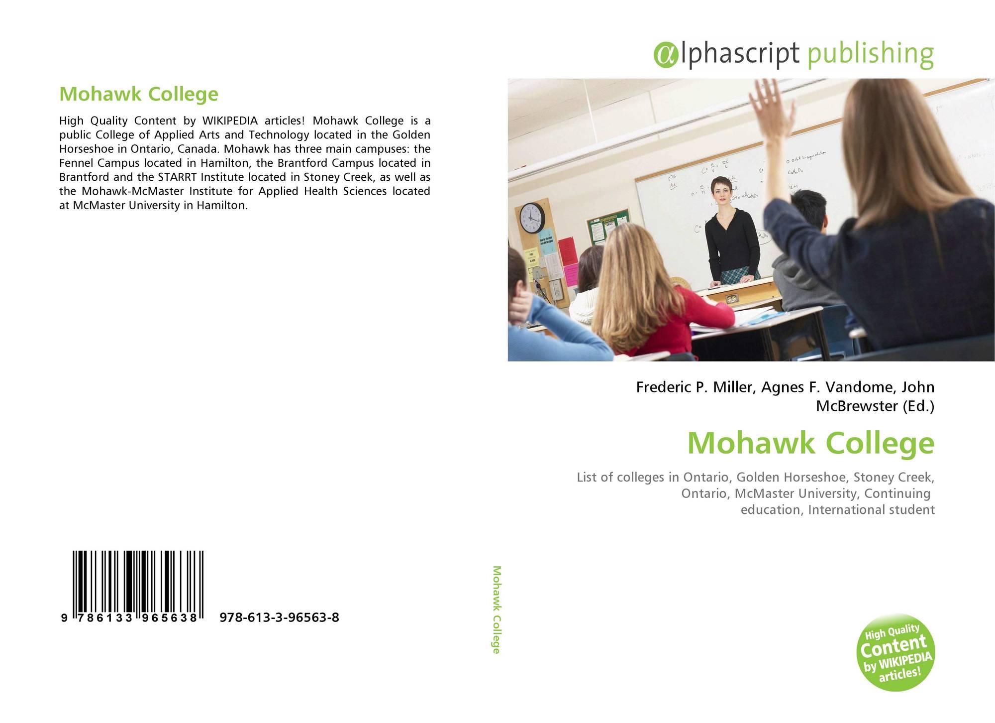 Mohawk College 978 613 3 96563 8 6133965630 9786133965638