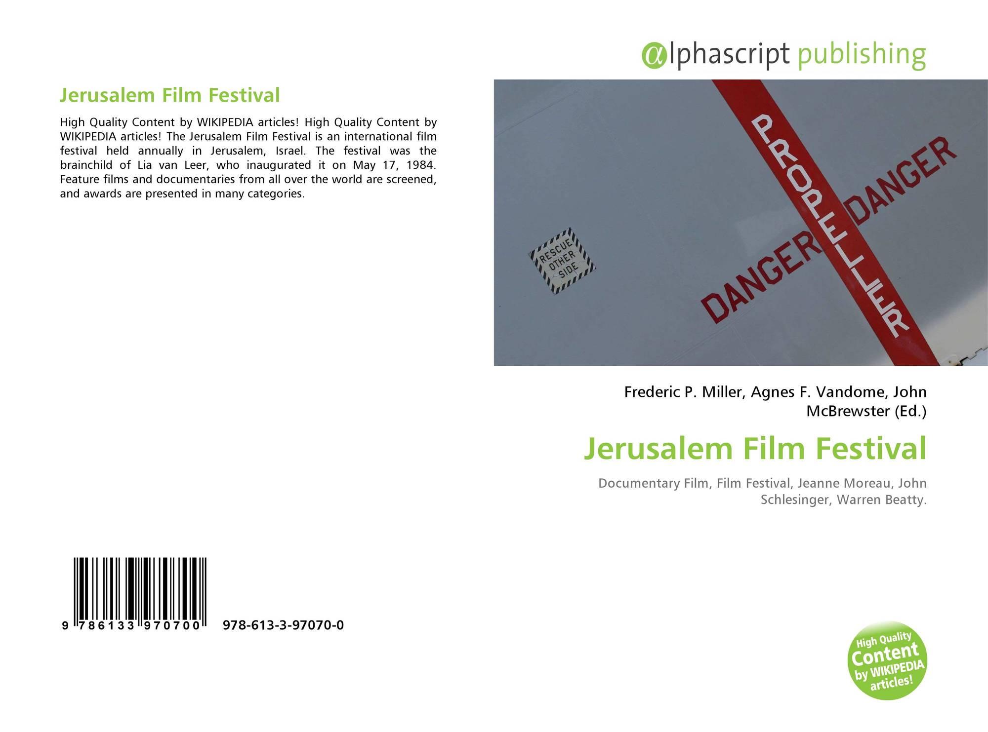Jerusalem Film Festival, 978-613-3-97070-0, 6133970707 ,9786133970700