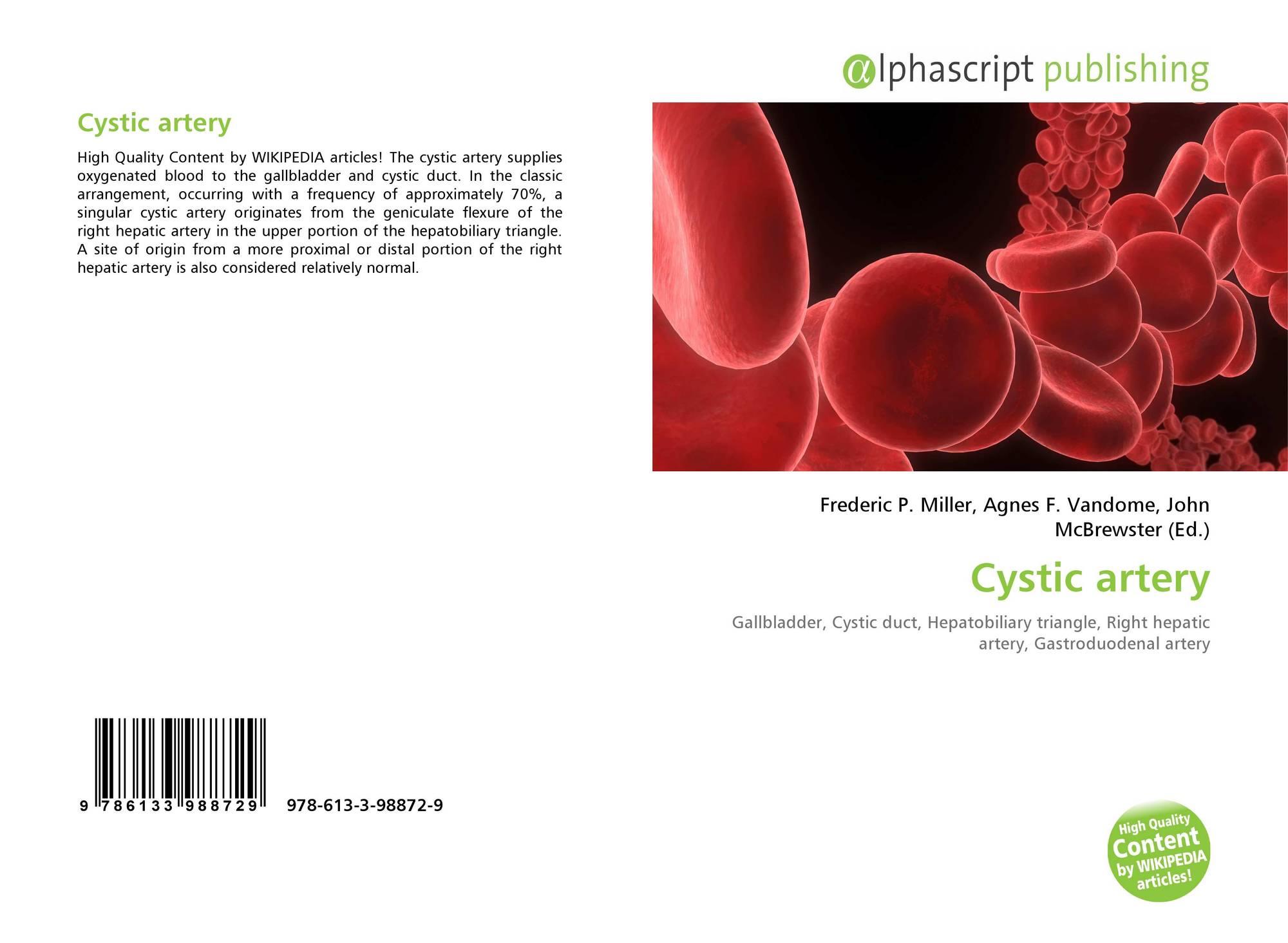 Cystic Artery 978 613 3 98872 9 613398872x 9786133988729