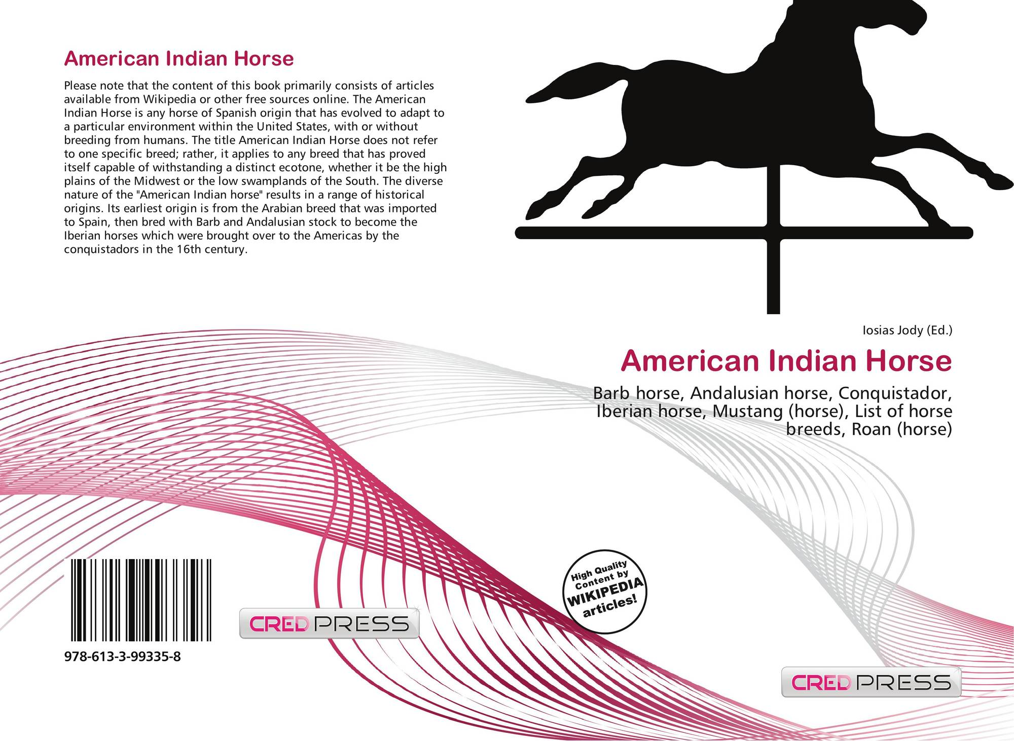 American Indian Horse 978 613 3 99335 8 6133993359 9786133993358