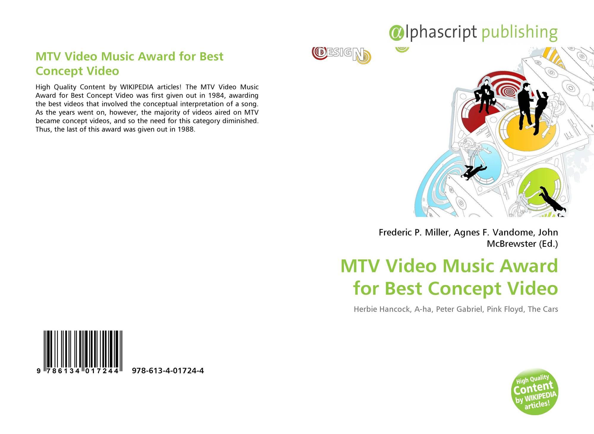 MTV Video Music Award for Best Concept Video, 978-613-4-01724-4