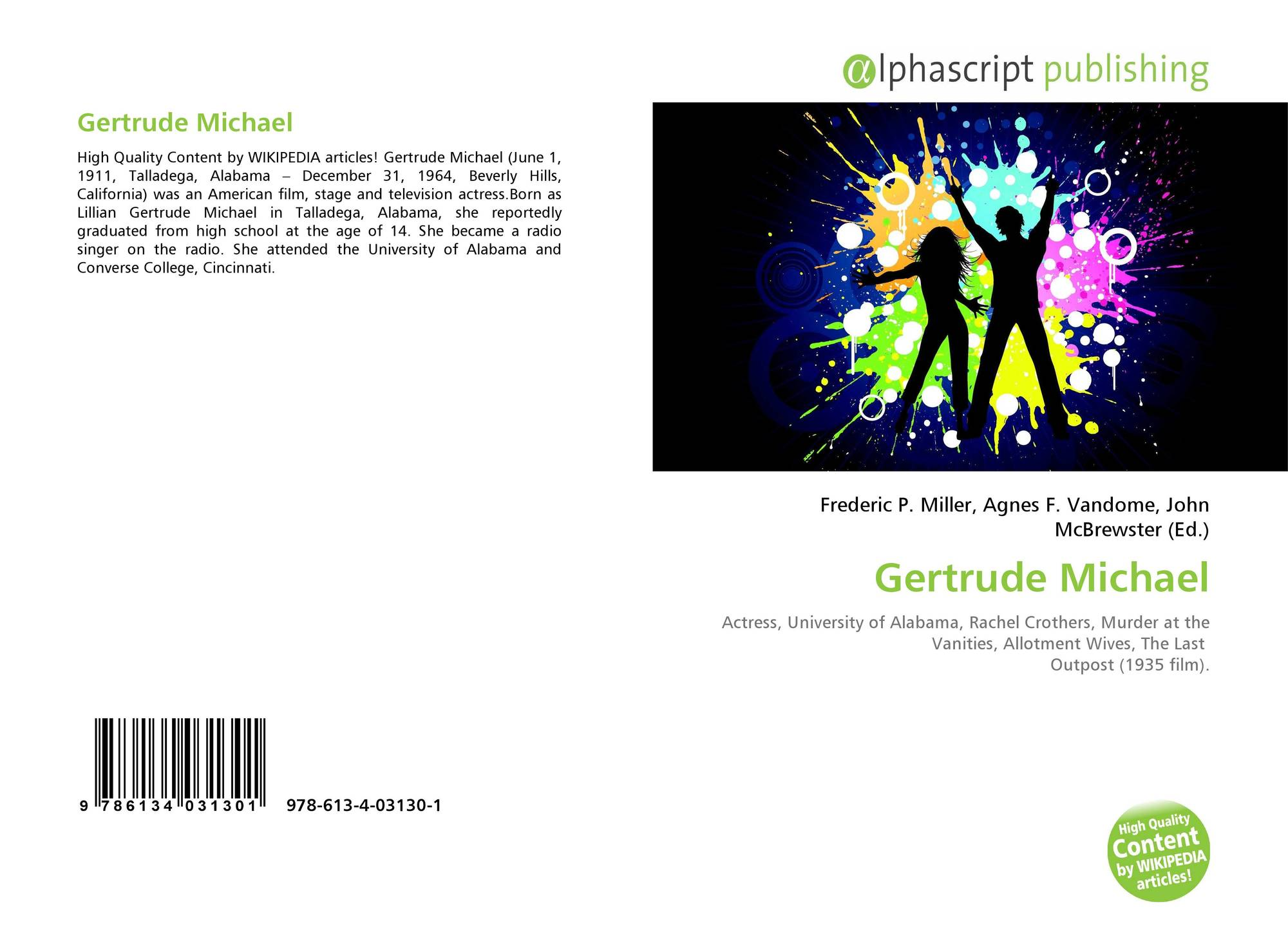 49a3b3133597 Bookcover of Gertrude Michael