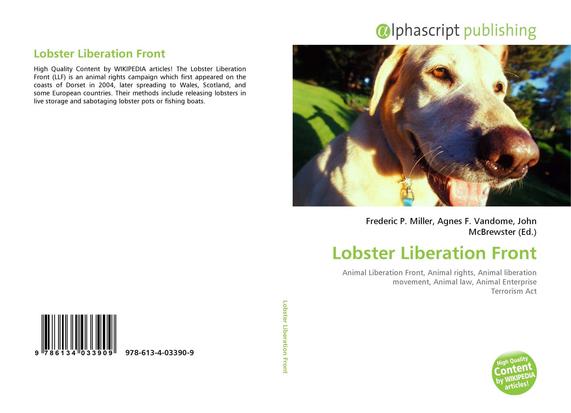 Search results for animal liberation front - Front de liberation des nains de jardin ...