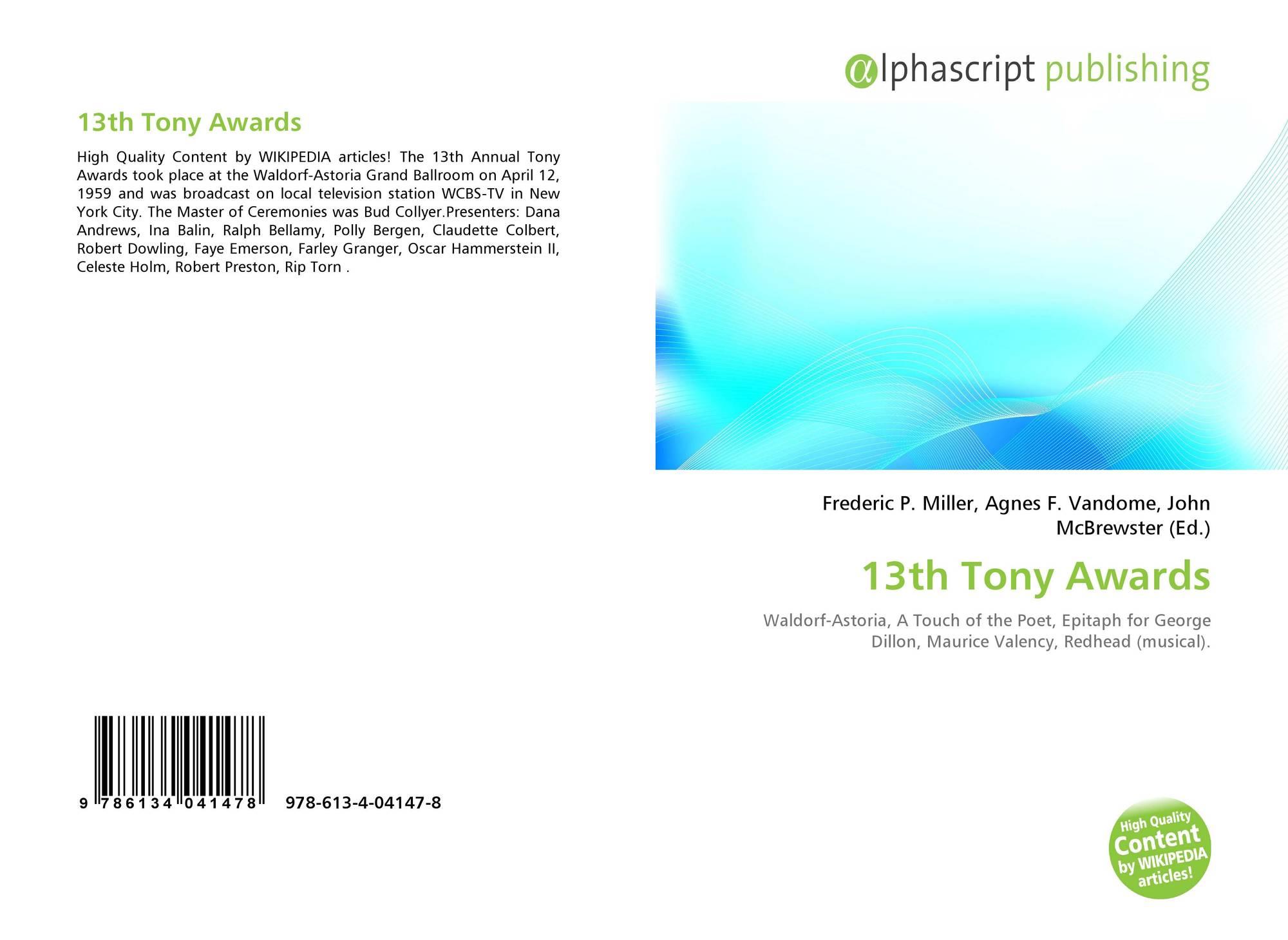 13th Tony Awards