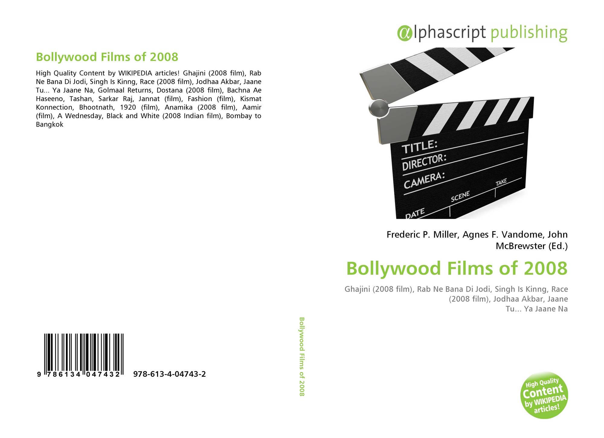 Bollywood Films Of 2008 978 613 4 04743 2 6134047430