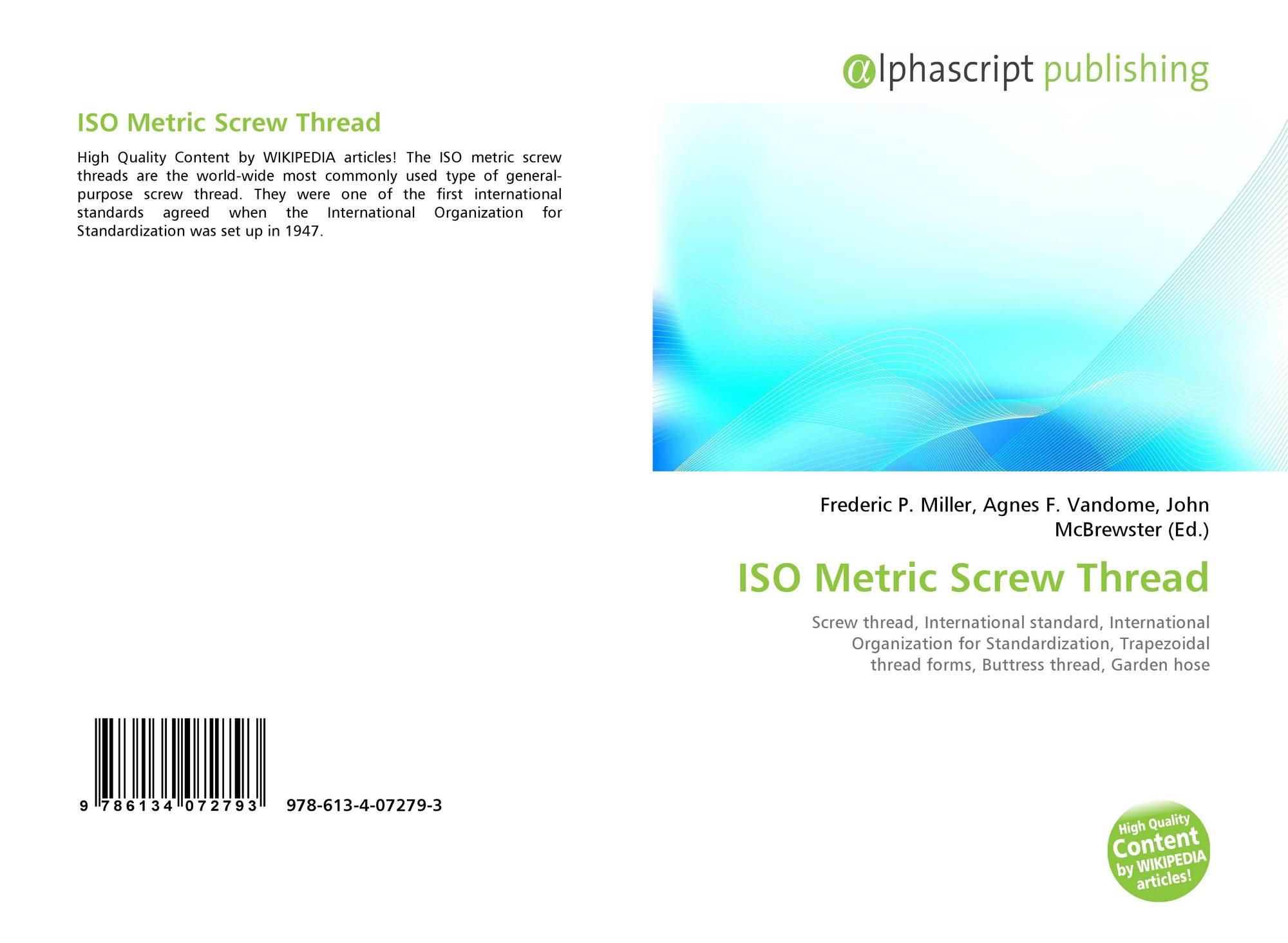 ISO Metric Screw Thread, 978-613-4-07279-3, 6134072796