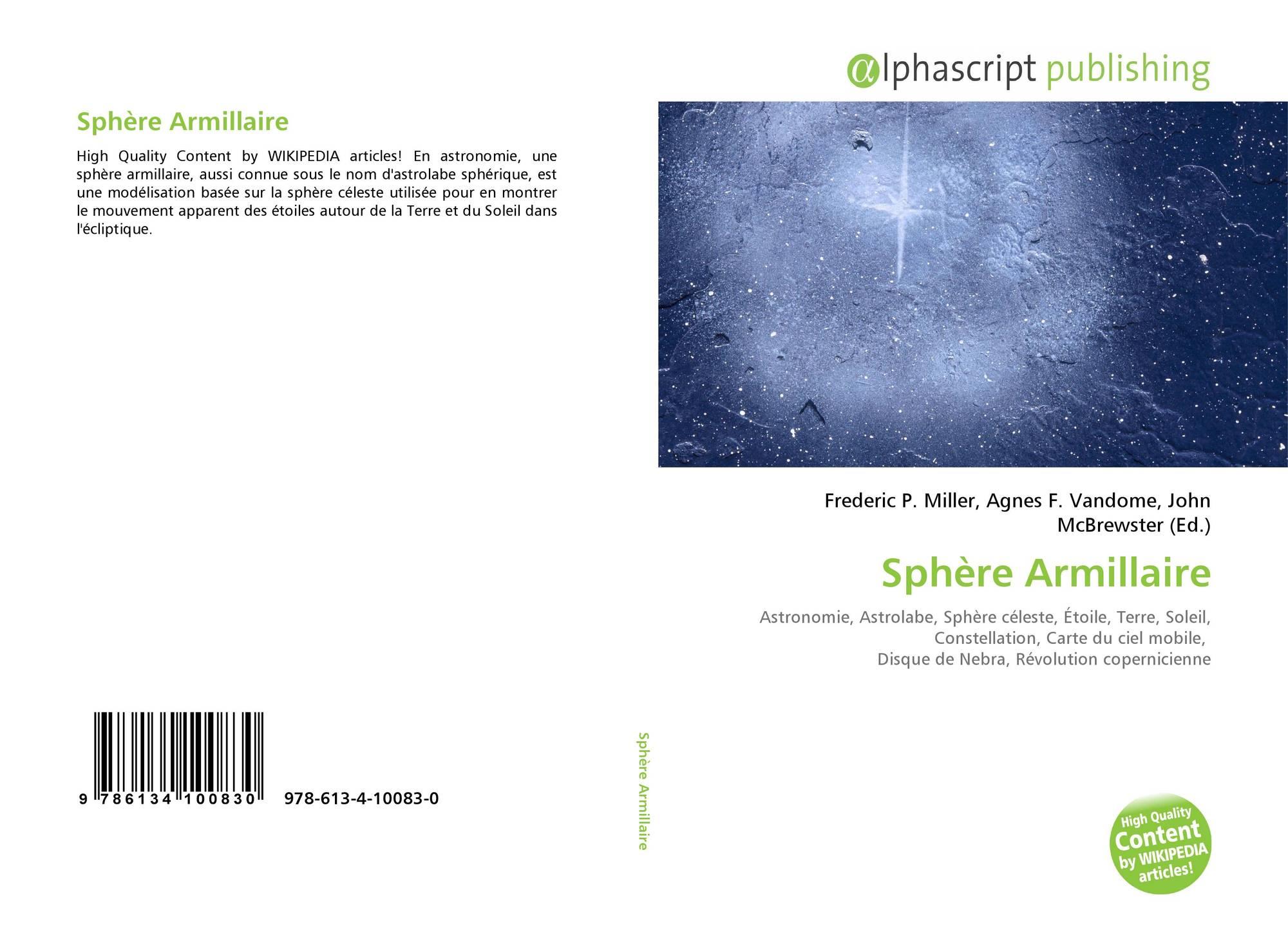 b8523060955 Bookcover of Sphère Armillaire. 9786134100830