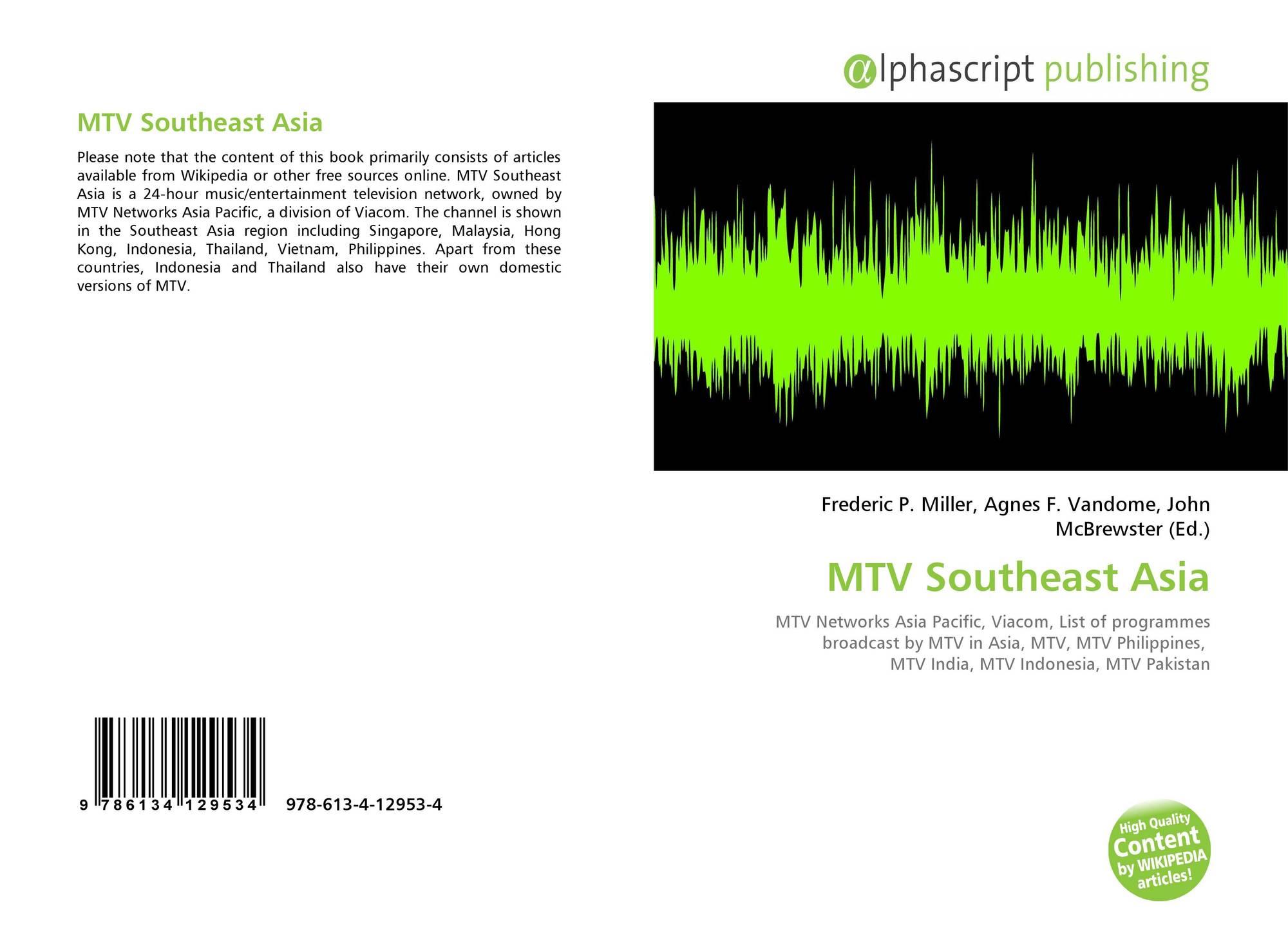 MTV Southeast Asia, 978-613-4-12953-4, 6134129534 ,9786134129534