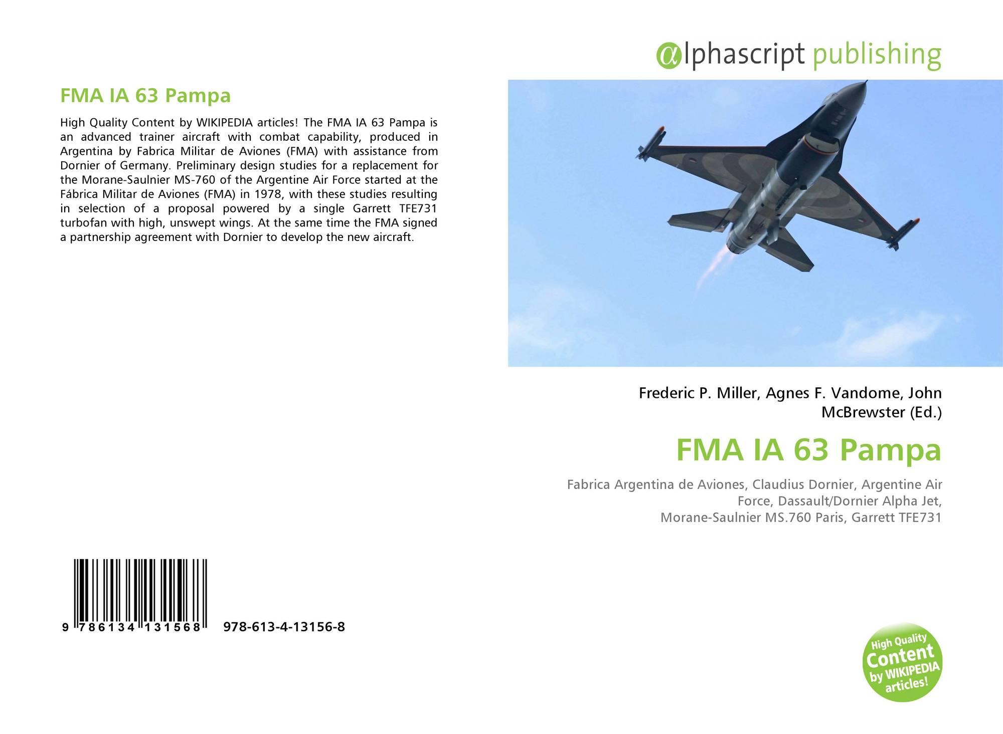 FMA IA 63 Pampa, 978-613-4-13156-8, 6134131563 ,9786134131568