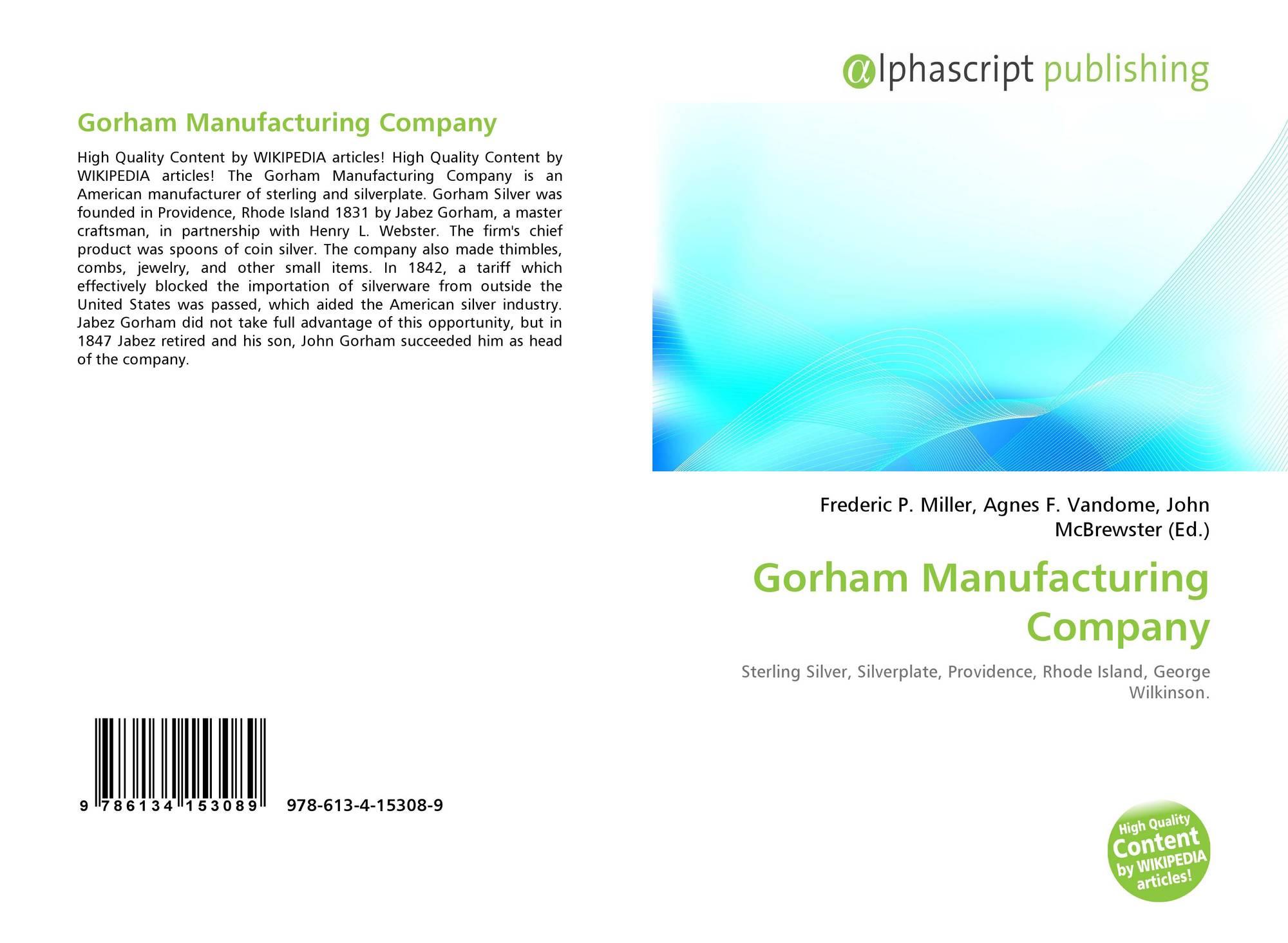 Gorham Manufacturing Company Rhode Island